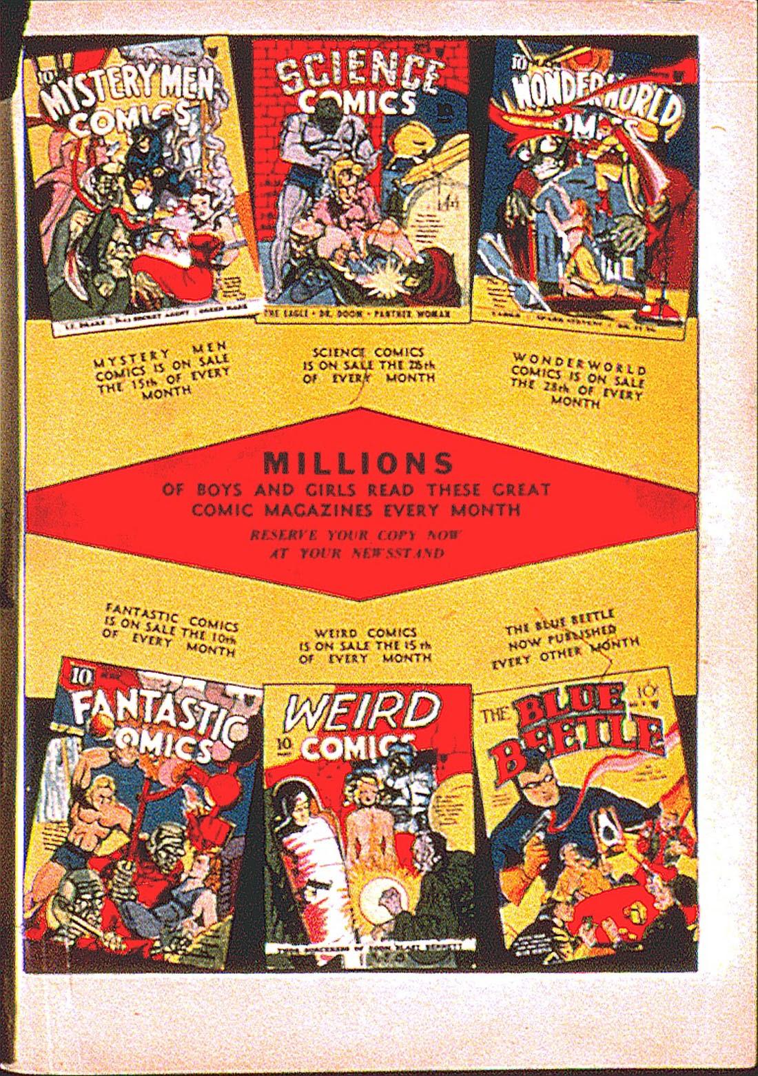 Read online Fantastic Comics comic -  Issue #7 - 67