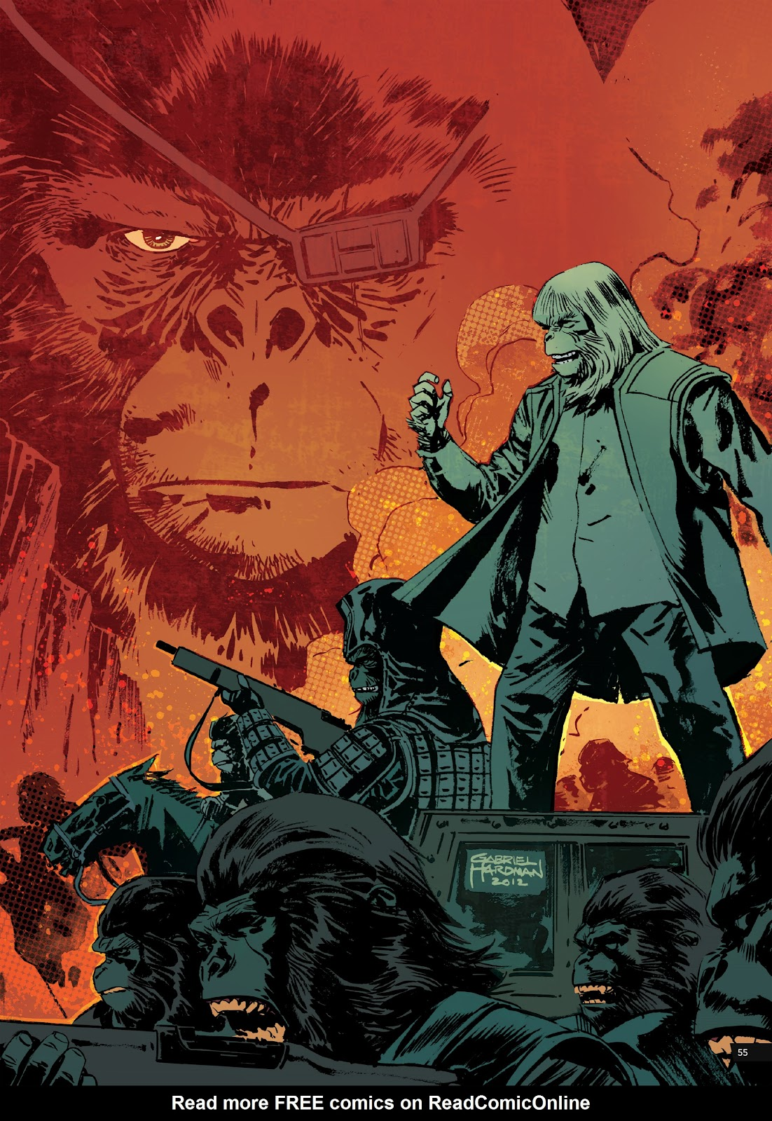 Read online Planet of the Apes Artist Tribute comic -  Issue # TPB - 55