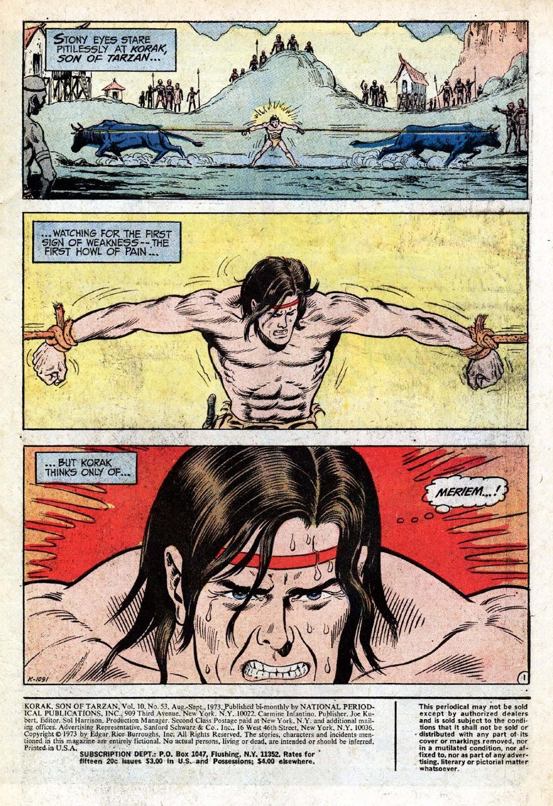Korak, Son of Tarzan (1972) 53 Page 1