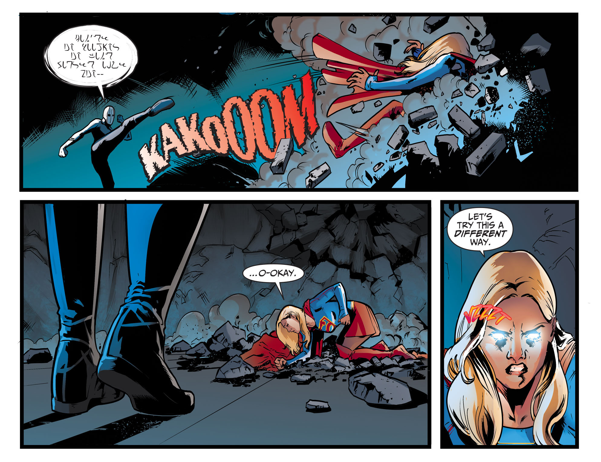 Read online Adventures of Supergirl comic -  Issue #9 - 14
