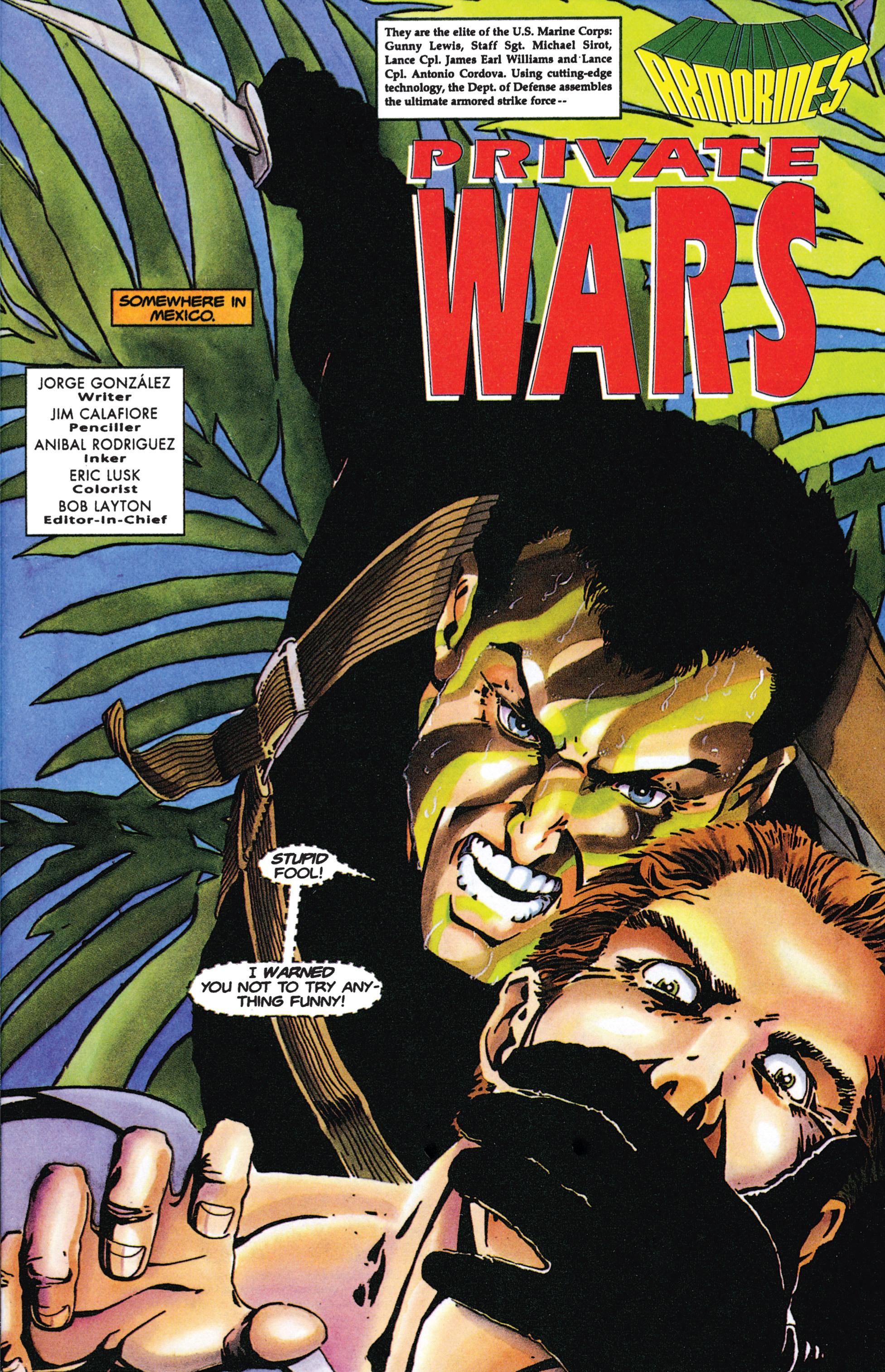 Read online Armorines comic -  Issue #9 - 2