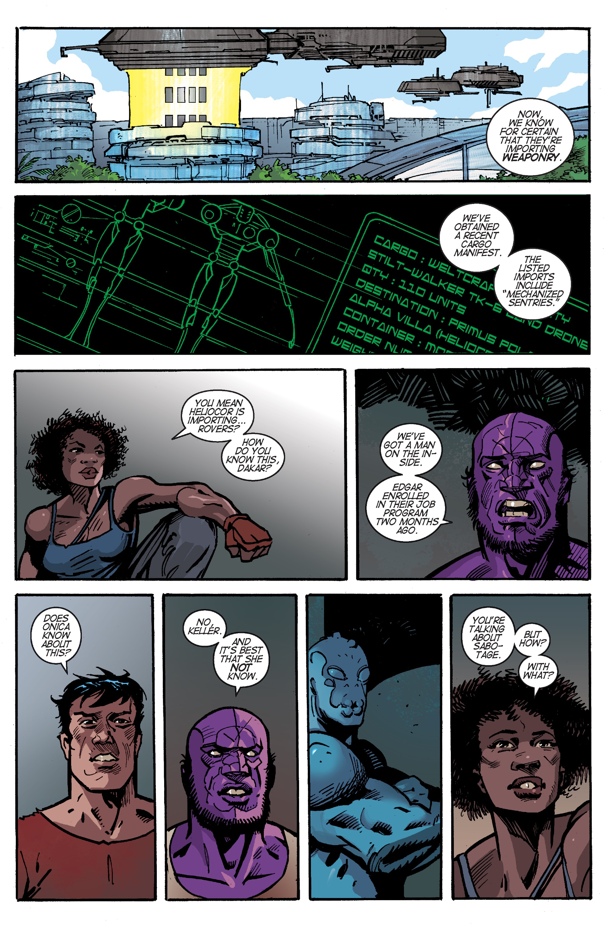 Read online Planetoid Praxis comic -  Issue #5 - 4