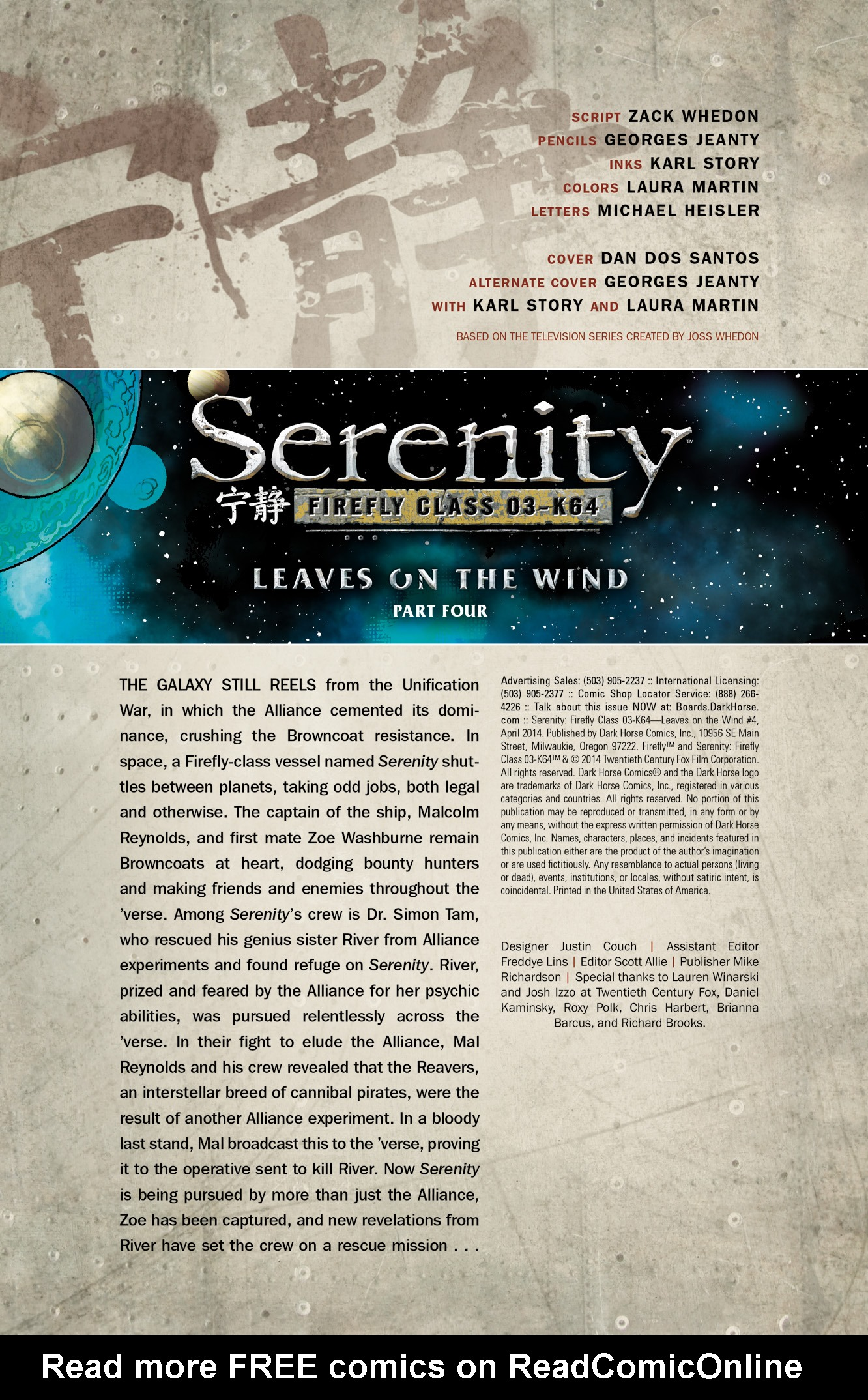 Read online Serenity: Firefly Class 03-K64  Leaves on the Wind comic -  Issue #4 - 2