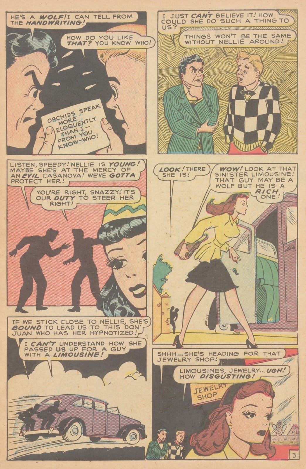 Read online Nellie The Nurse (1945) comic -  Issue #11 - 5
