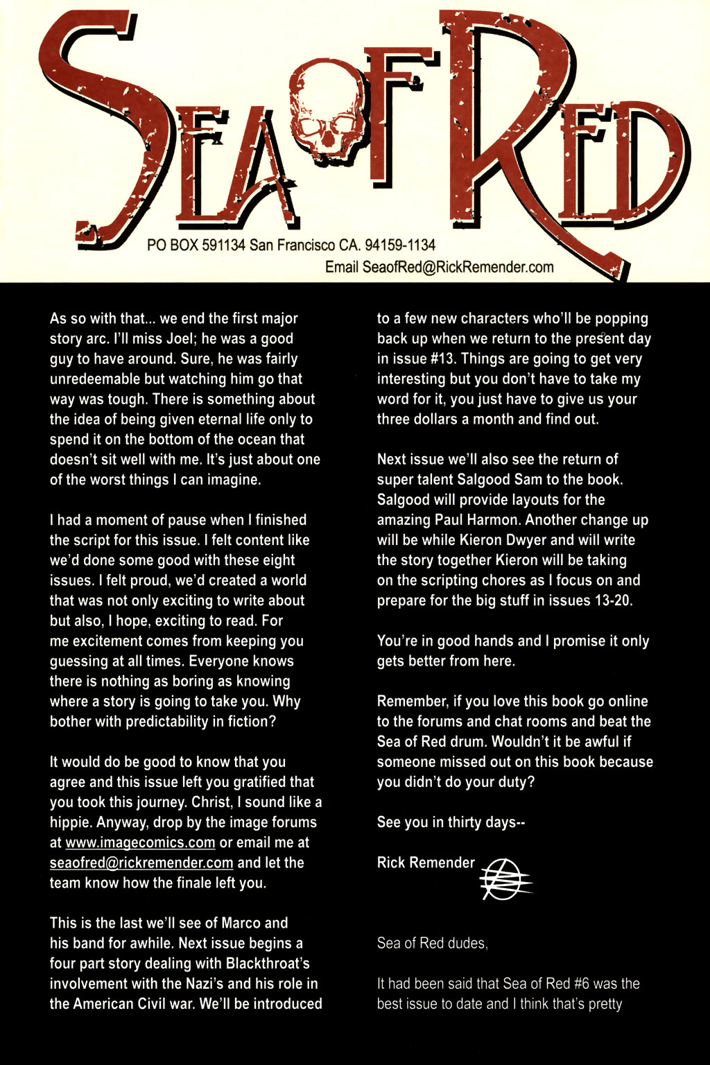 Read online Sea of Red comic -  Issue #8 - 25