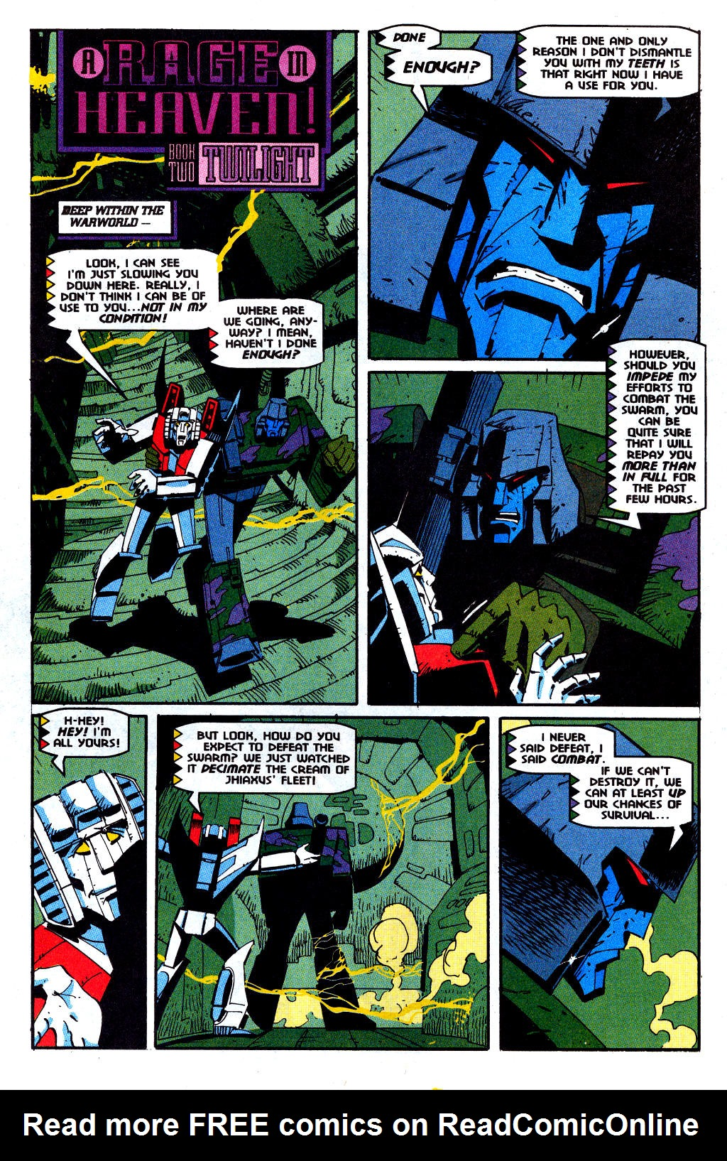 Read online Transformers: Generation 2 comic -  Issue #12 - 12