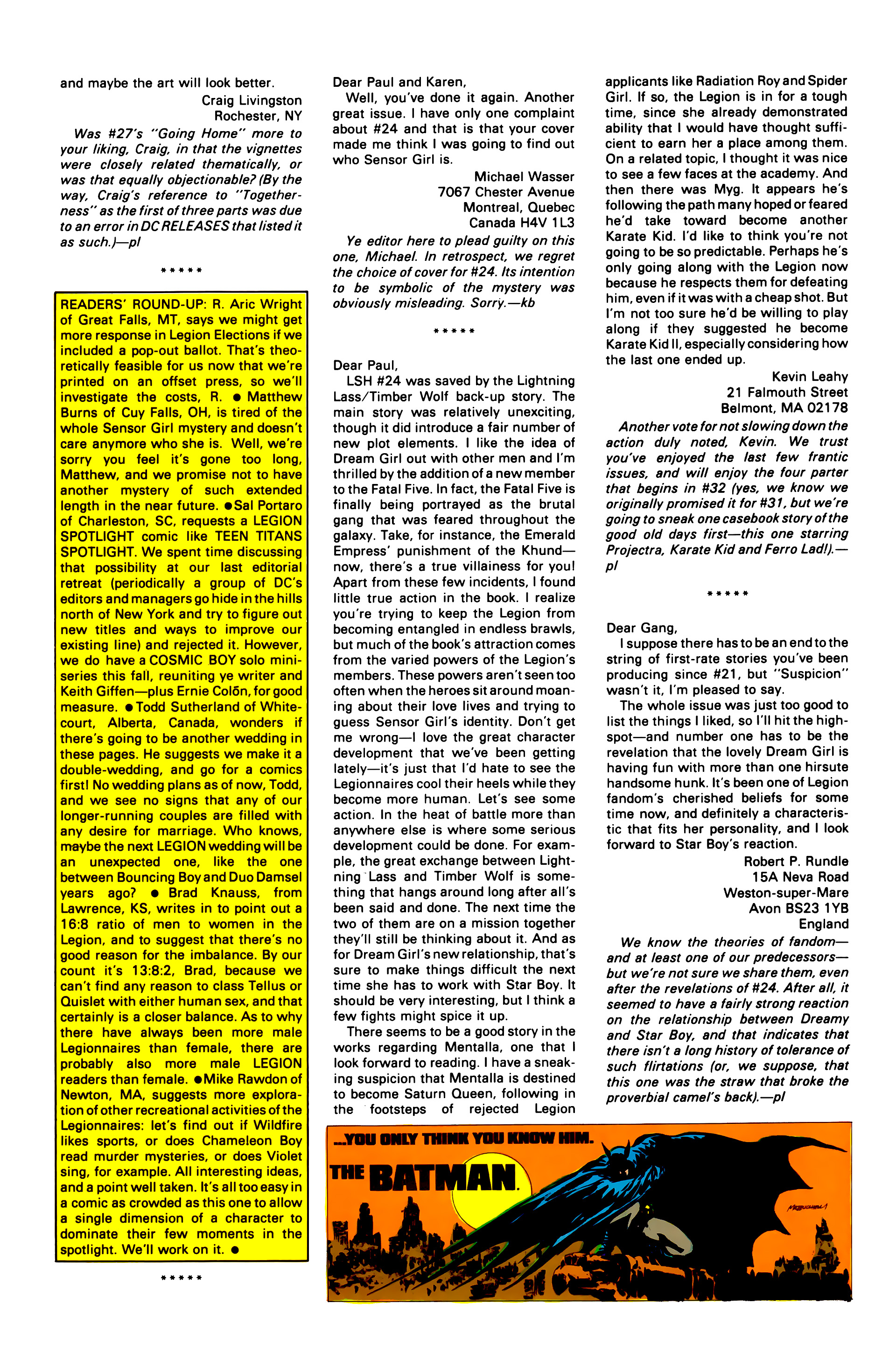 Legion of Super-Heroes (1984) 30 Page 30