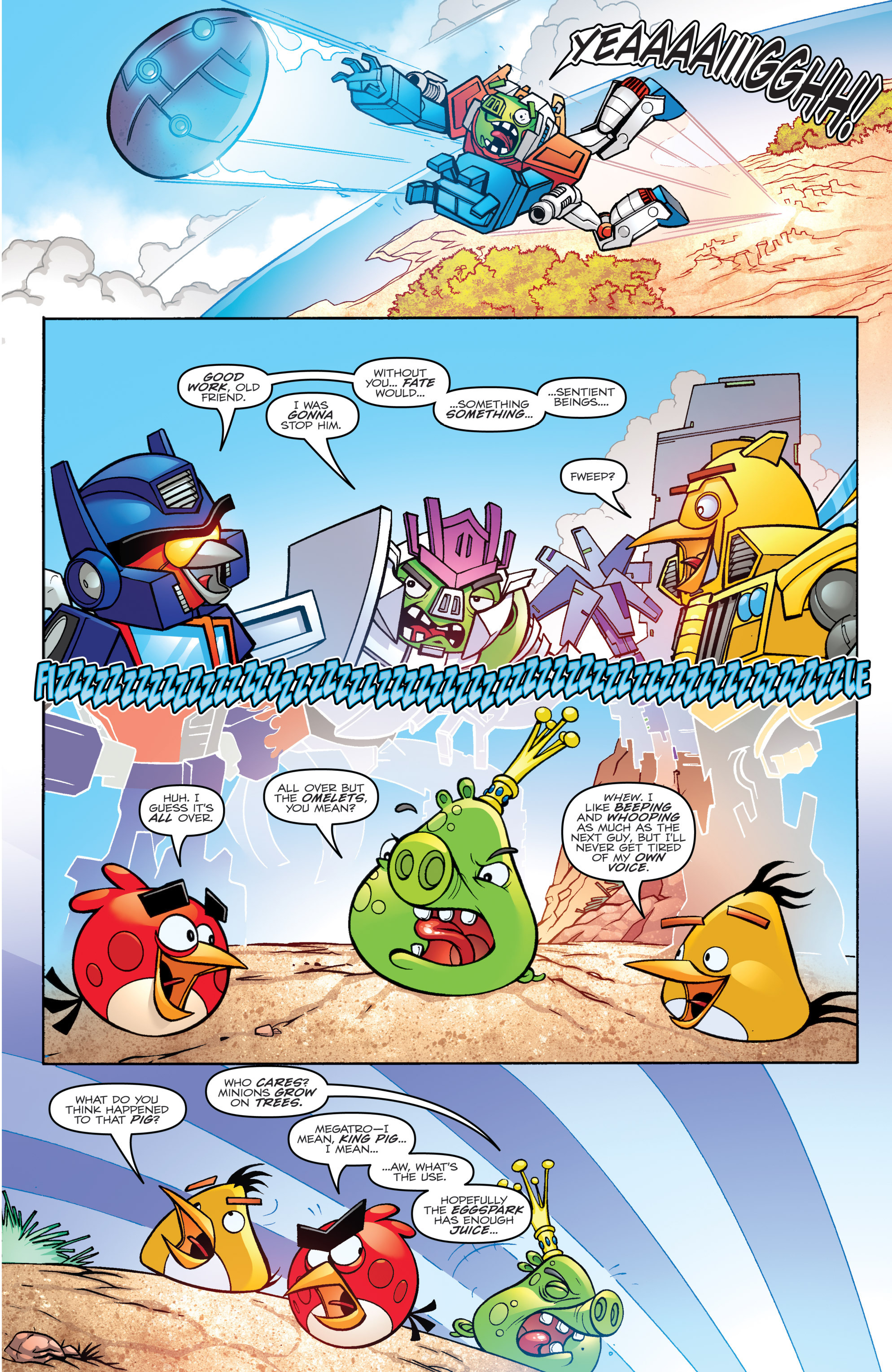 Read online Angry Birds Transformers comic -  Issue #4 - 19