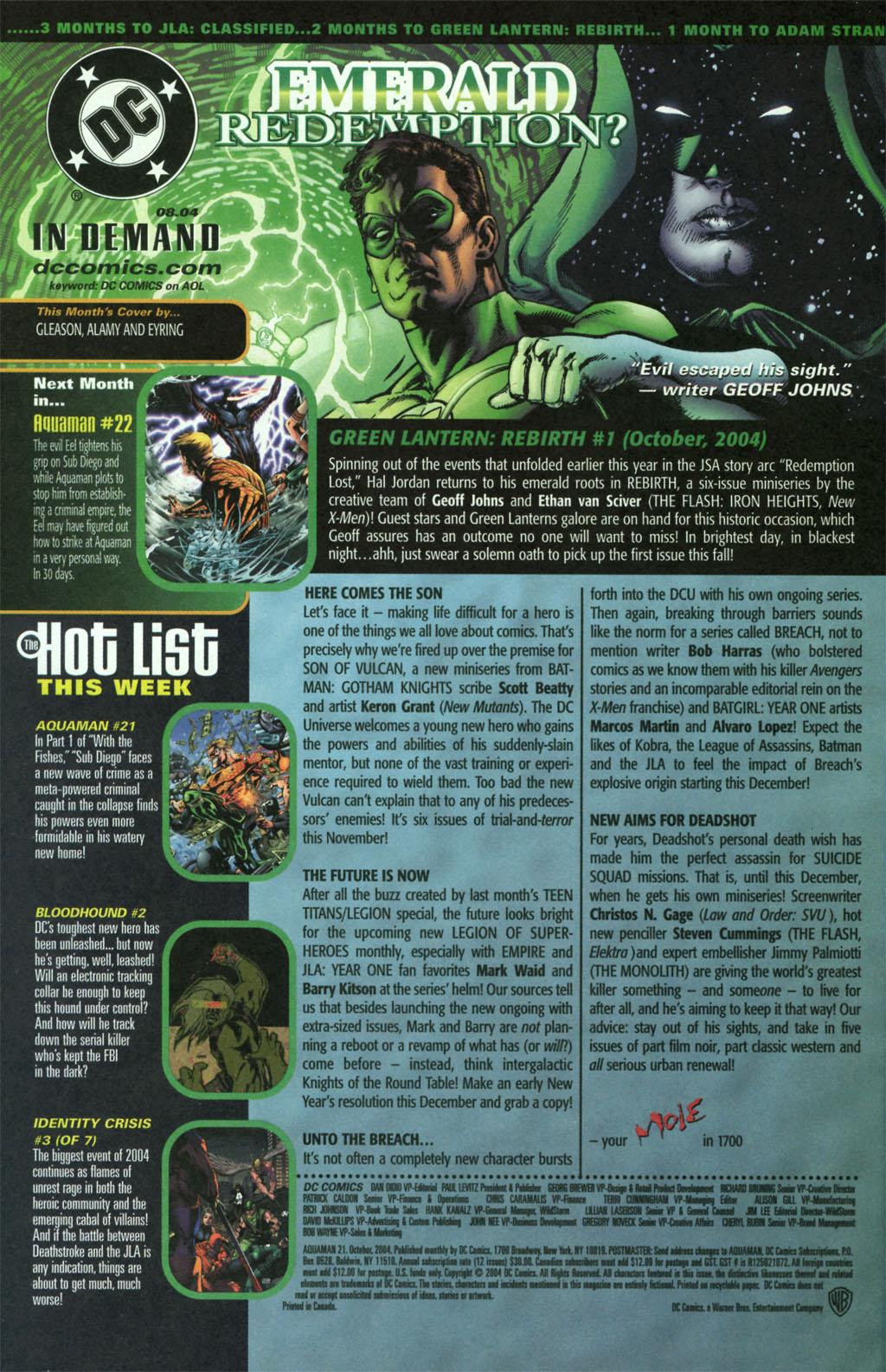 Read online Aquaman (2003) comic -  Issue #21 - 24