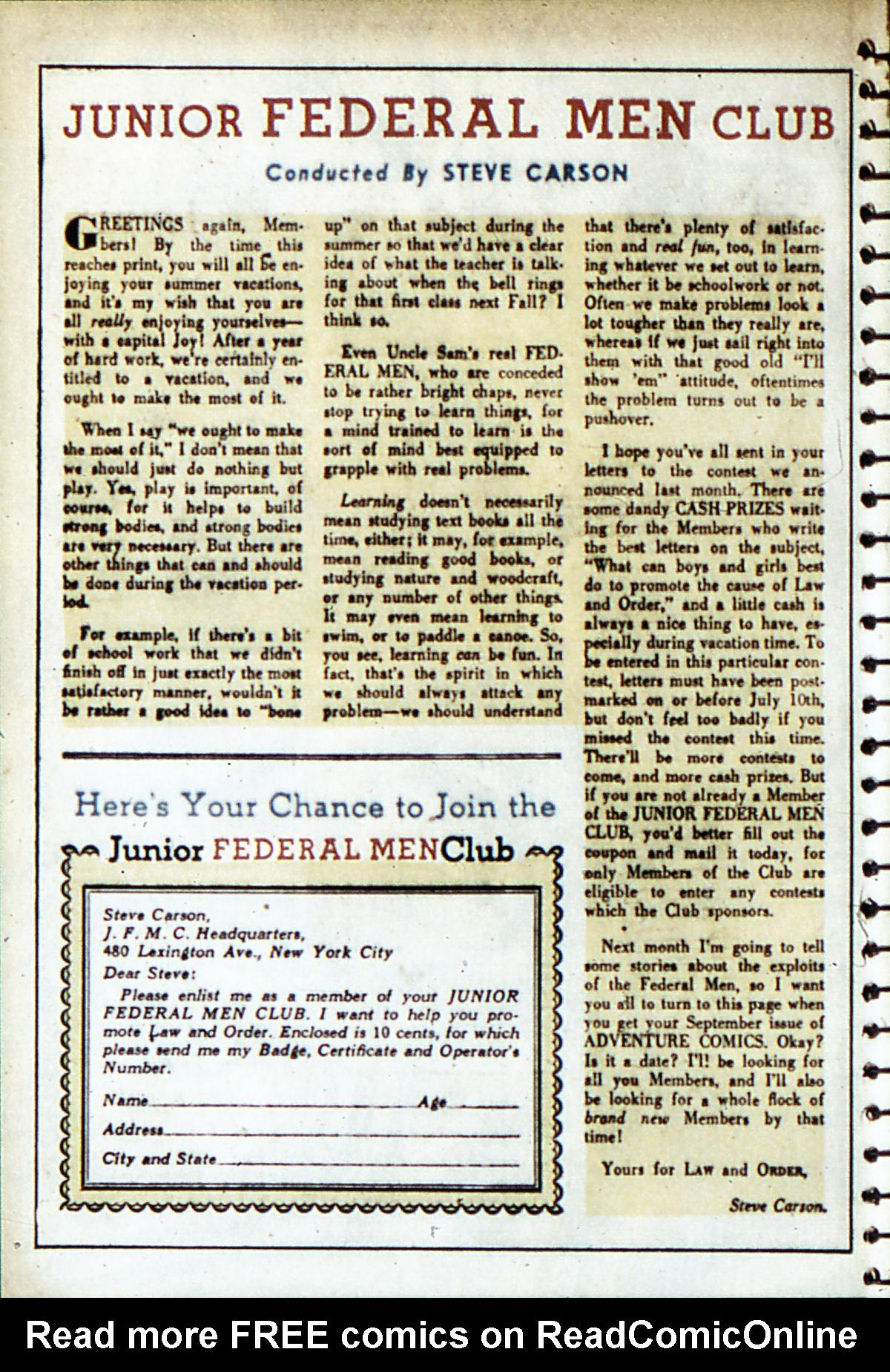 Read online Adventure Comics (1938) comic -  Issue #53 - 33