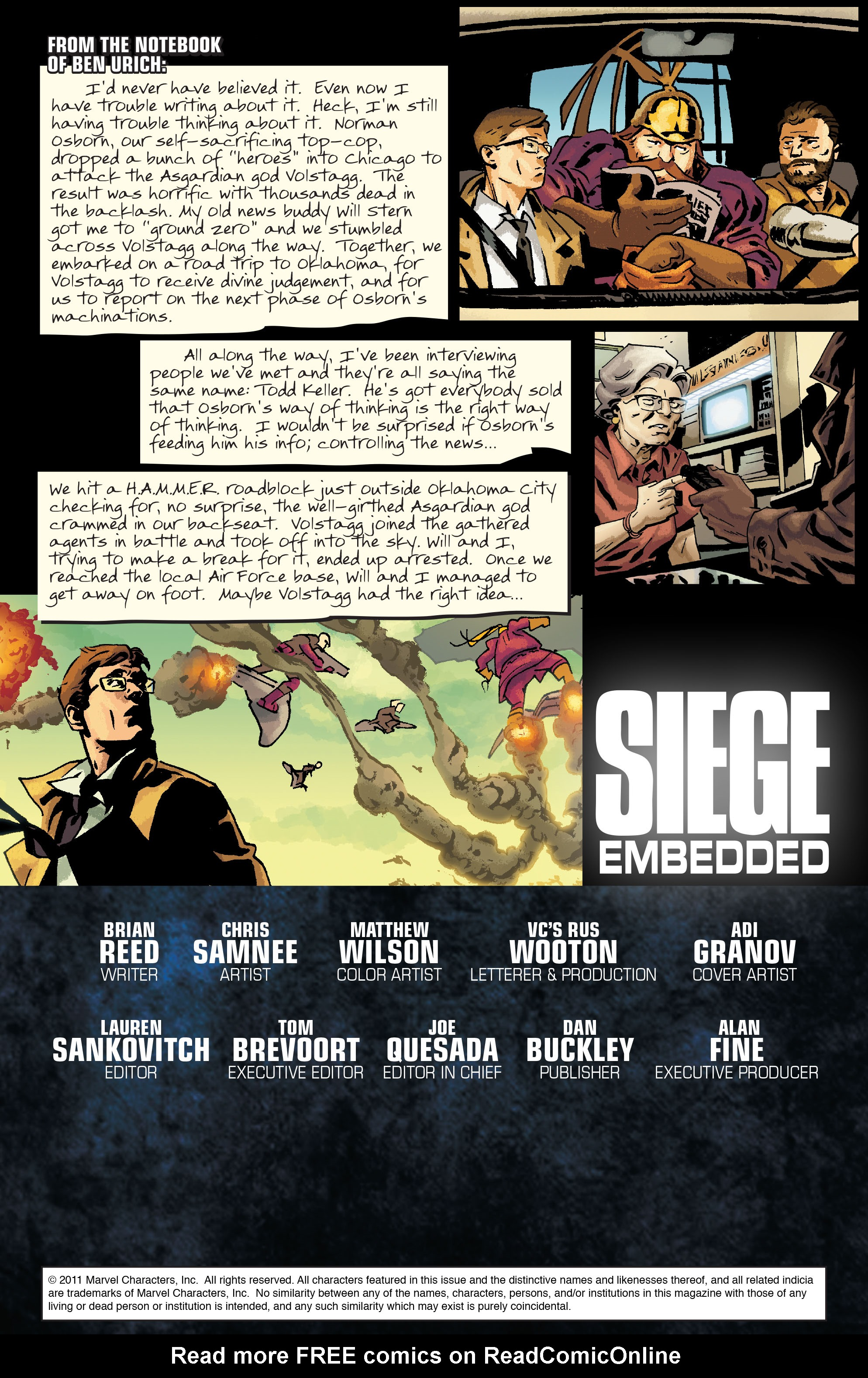 Read online Siege: Embedded comic -  Issue #3 - 2