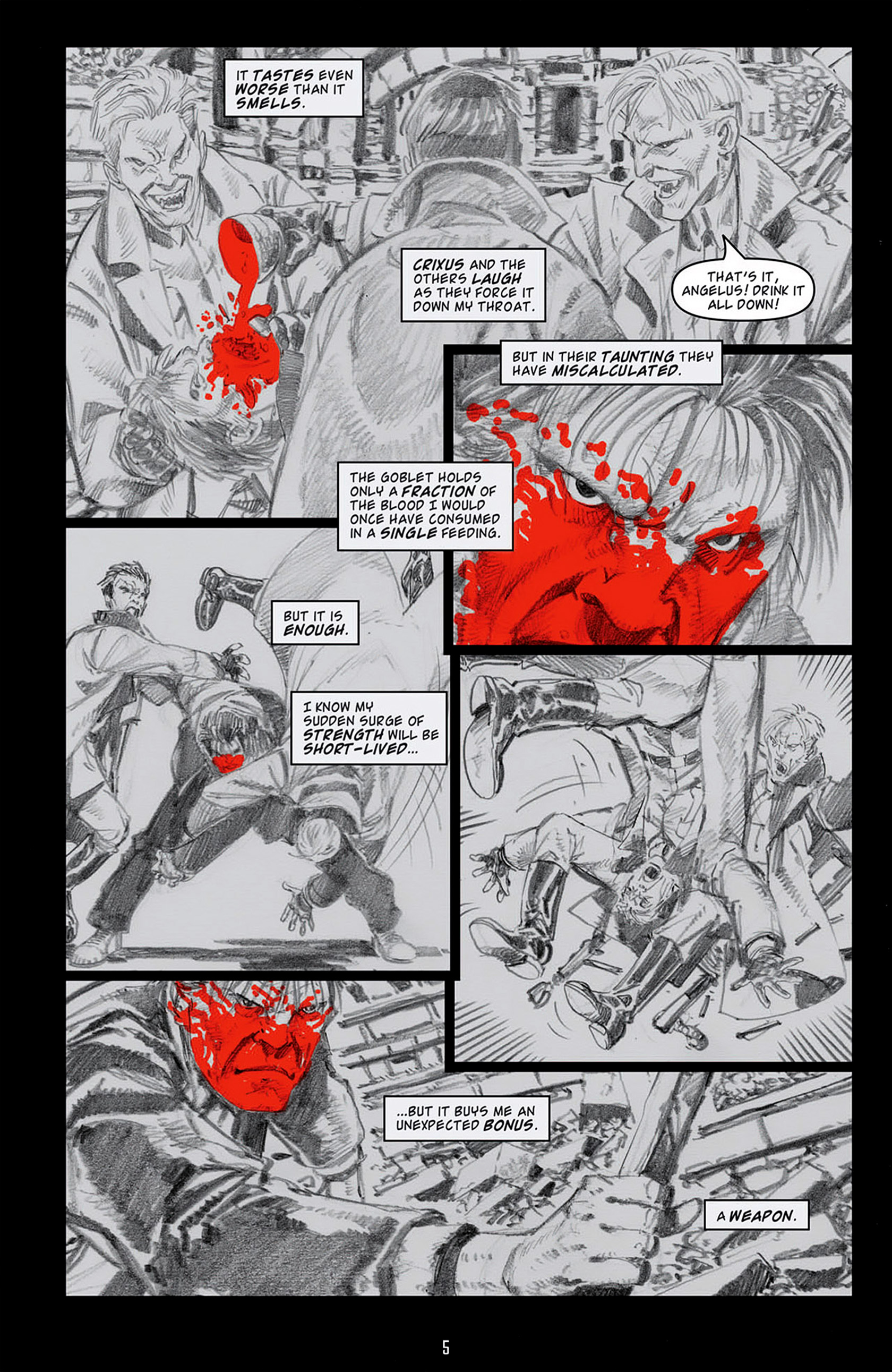 Read online Angel: Blood & Trenches comic -  Issue #4 - 8