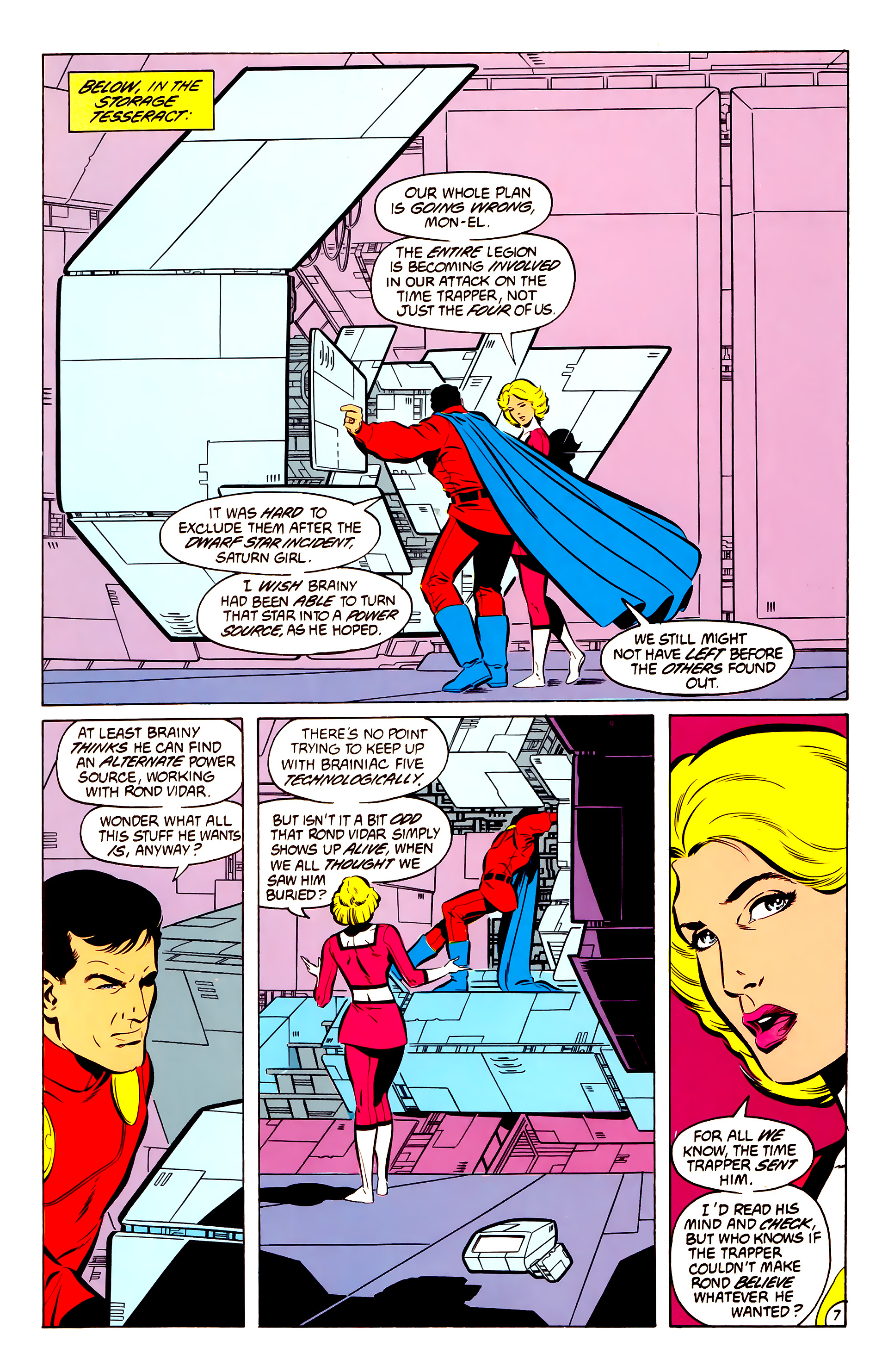 Legion of Super-Heroes (1984) 50 Page 7