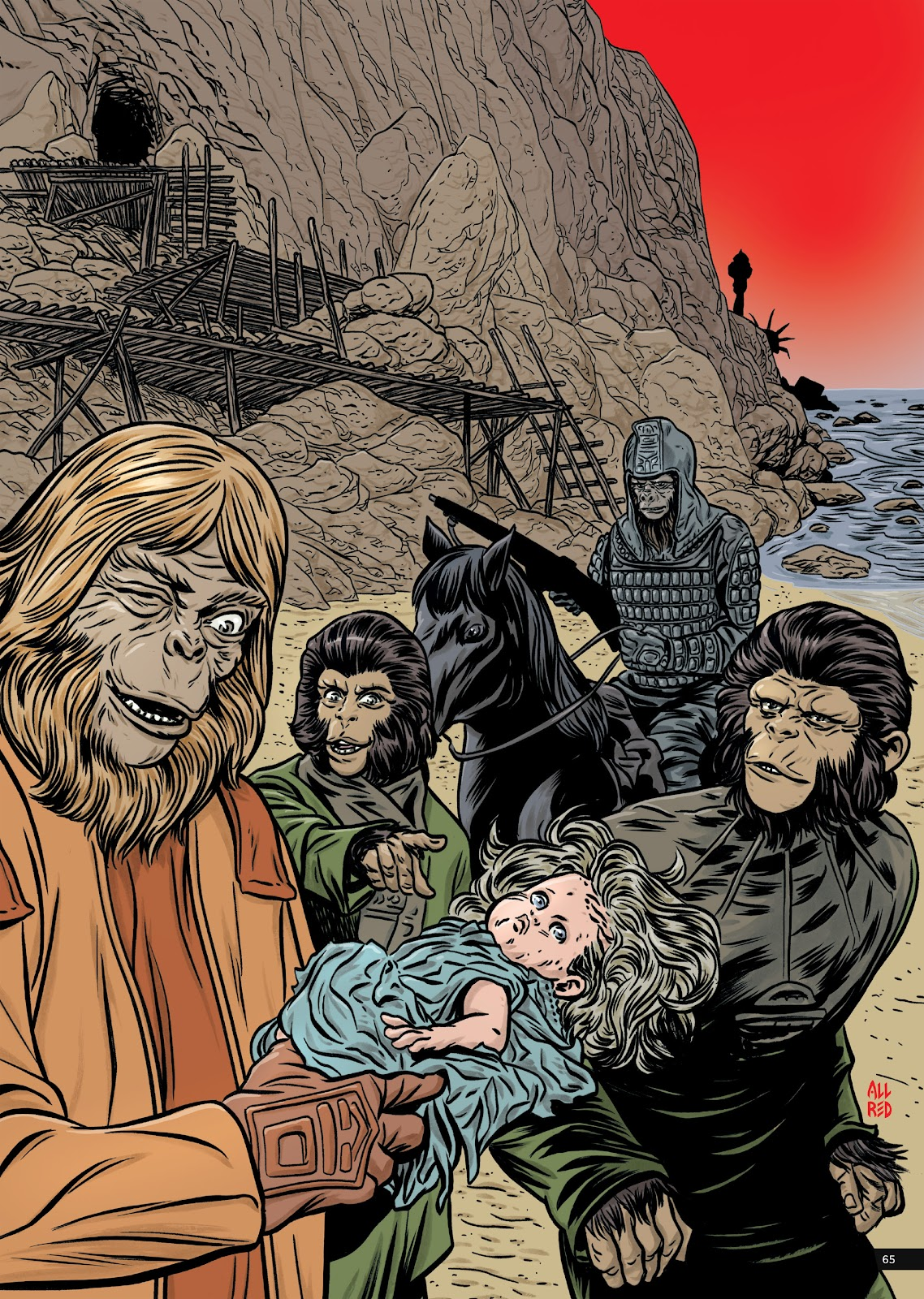 Read online Planet of the Apes Artist Tribute comic -  Issue # TPB - 65