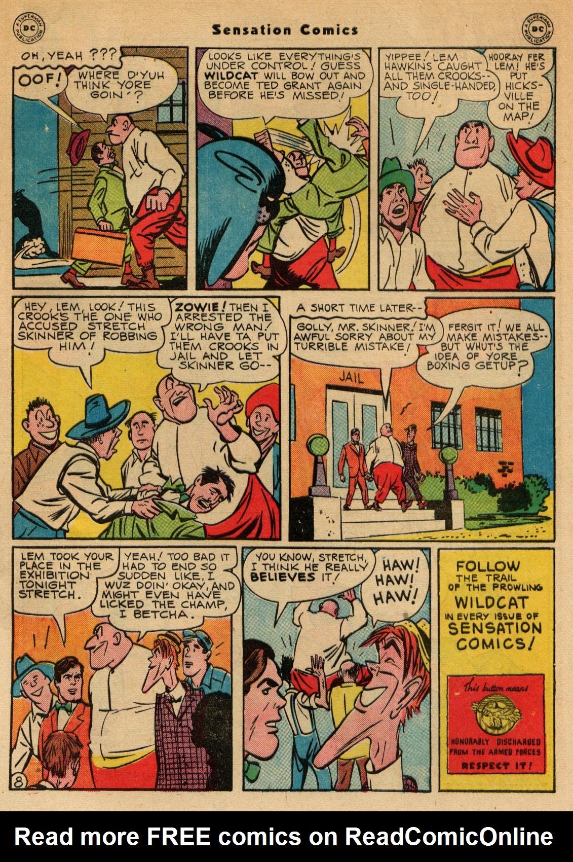 Read online Sensation (Mystery) Comics comic -  Issue #51 - 49