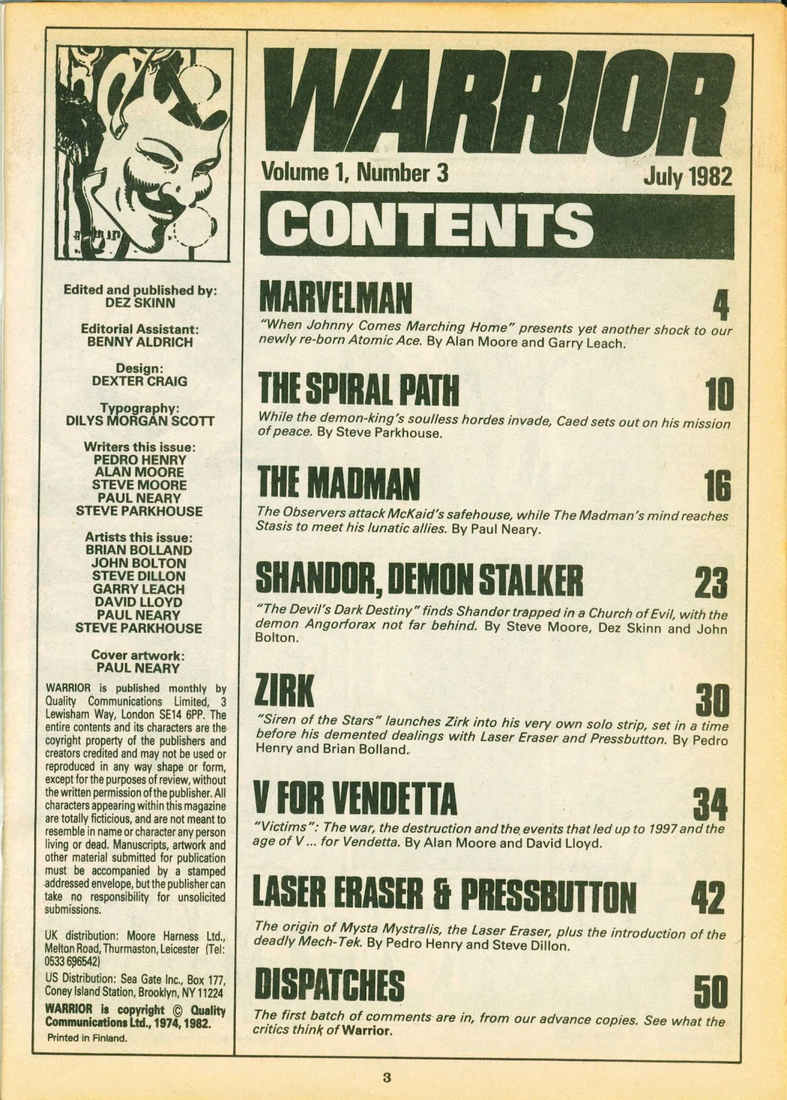 Warrior Issue #3 #4 - English 3