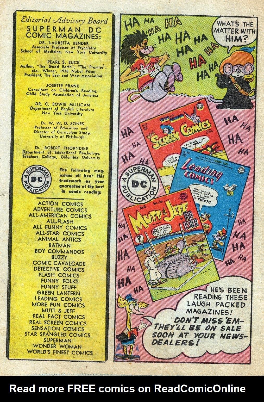 Read online Sensation (Mystery) Comics comic -  Issue #60 - 32