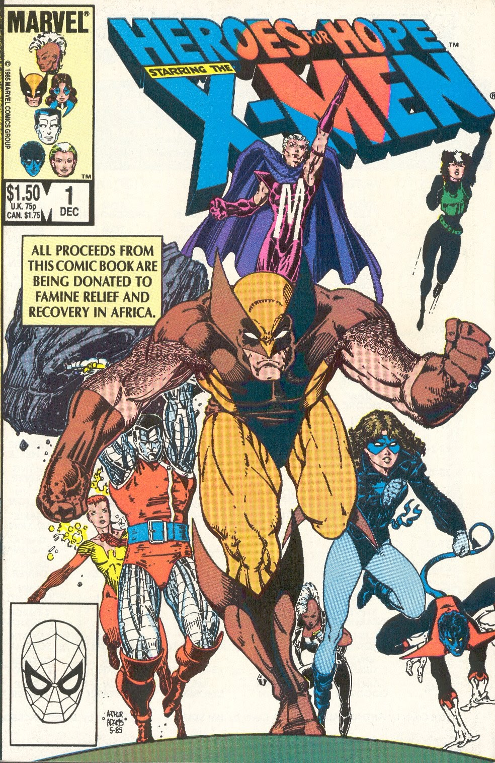 Heroes for Hope Starring the X-Men Full Page 1