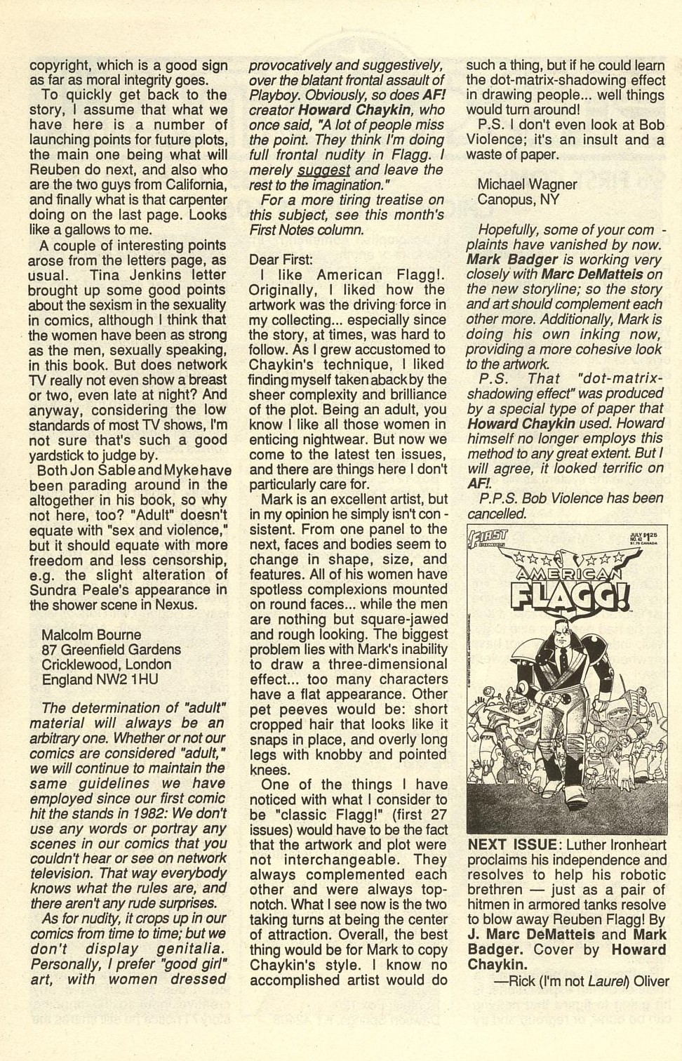 Read online American Flagg! comic -  Issue #41 - 34