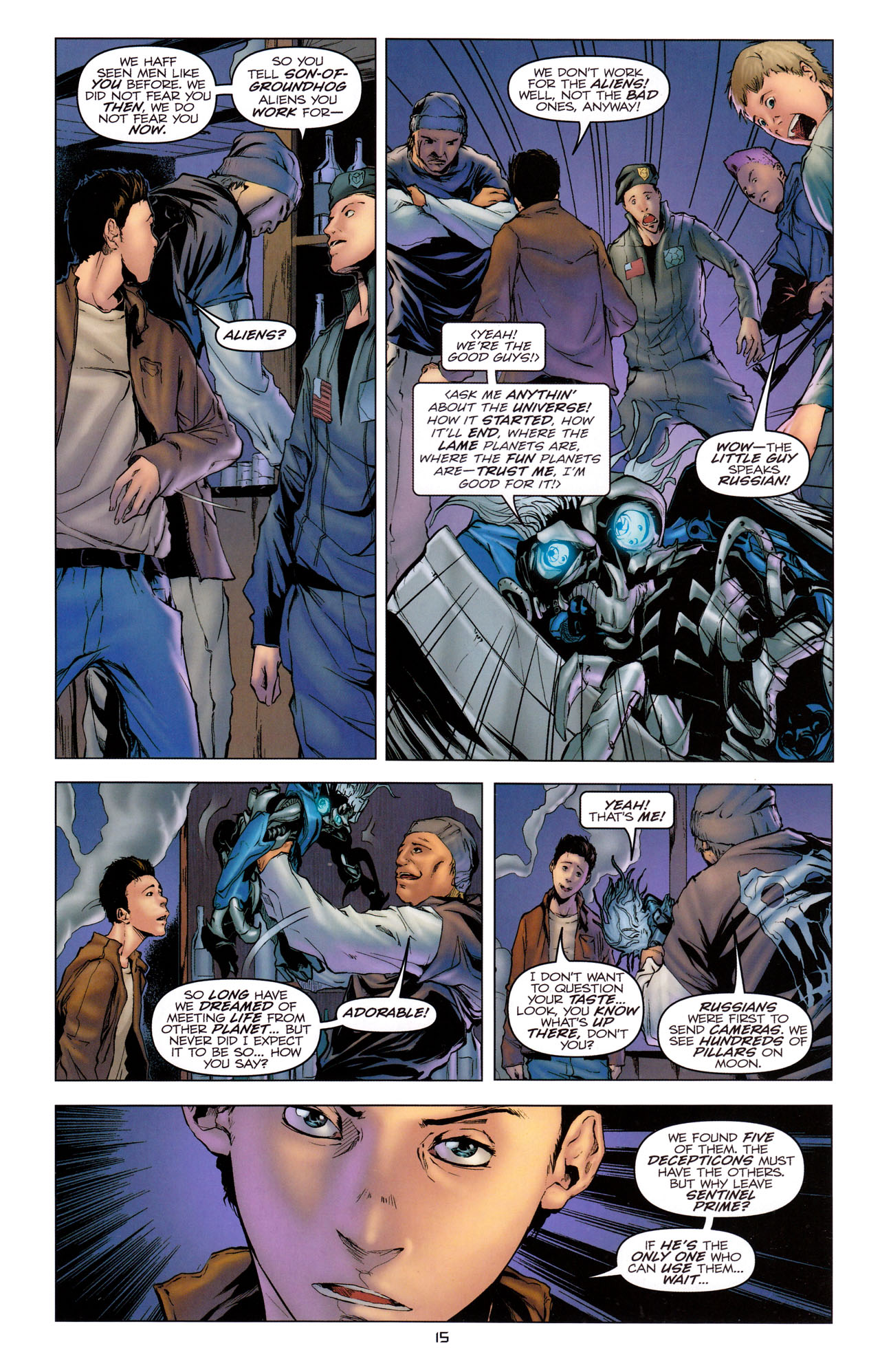 Read online Transformers: Dark of the Moon Movie Adaptation comic -  Issue #2 - 17