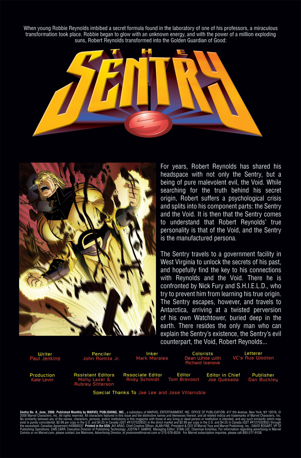 Read online Sentry (2006) comic -  Issue #8 - 2