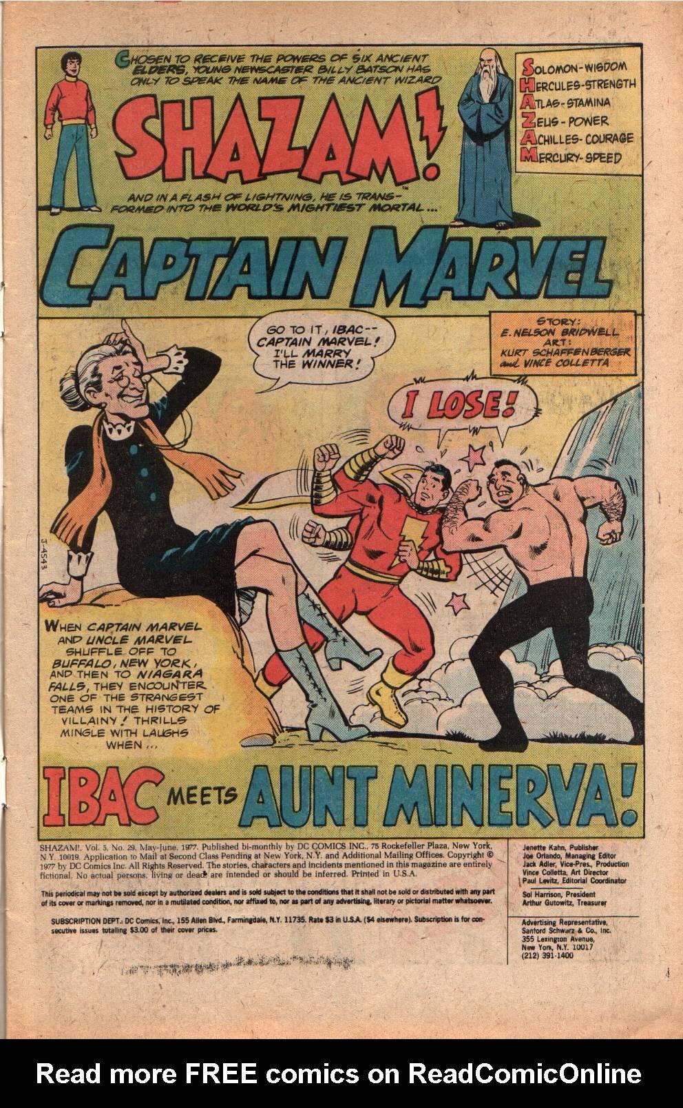 Read online Shazam! (1973) comic -  Issue #29 - 3