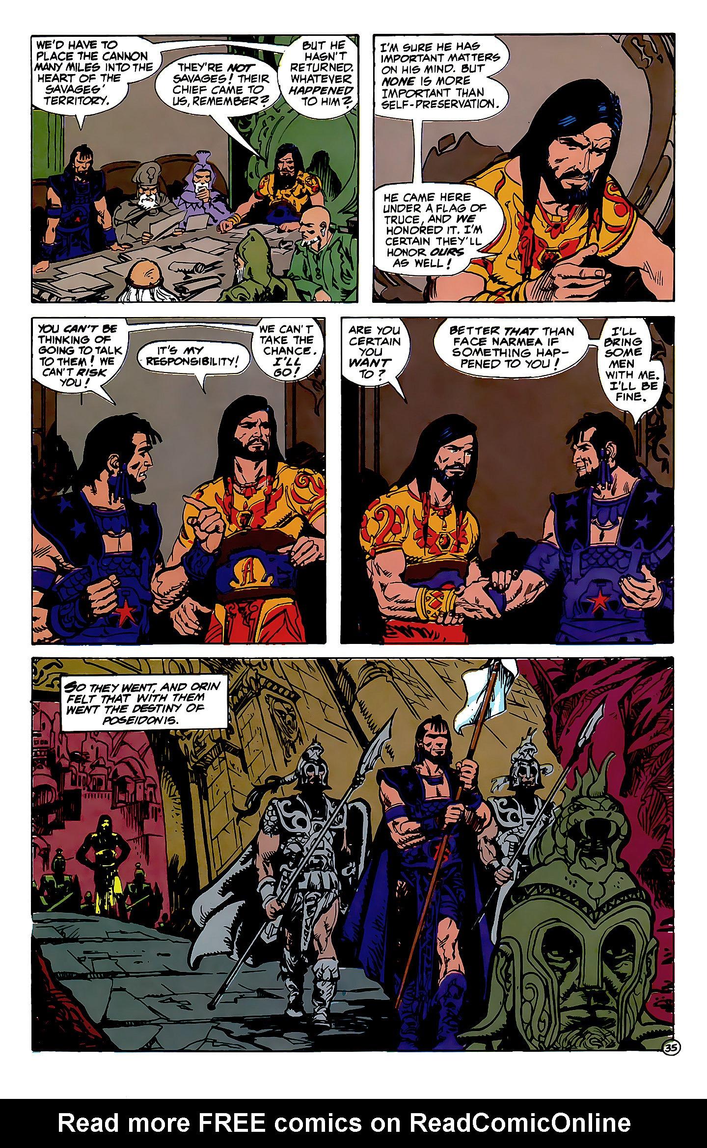 Read online Atlantis Chronicles comic -  Issue #1 - 35