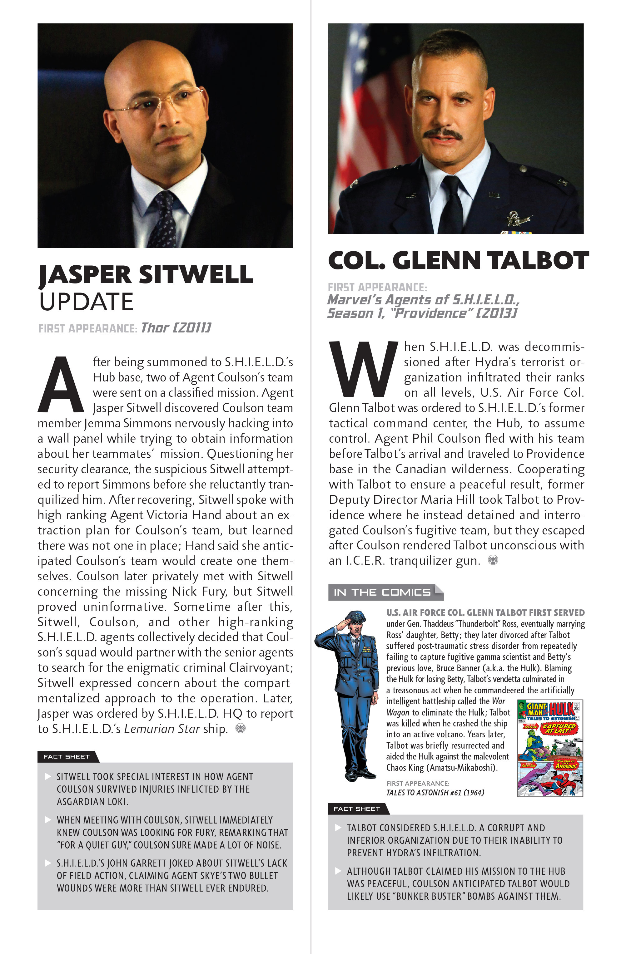 Read online Guidebook to the Marvel Cinematic Universe - Marvel's Agents of S.H.I.E.L.D. Season One comic -  Issue # Full - 22