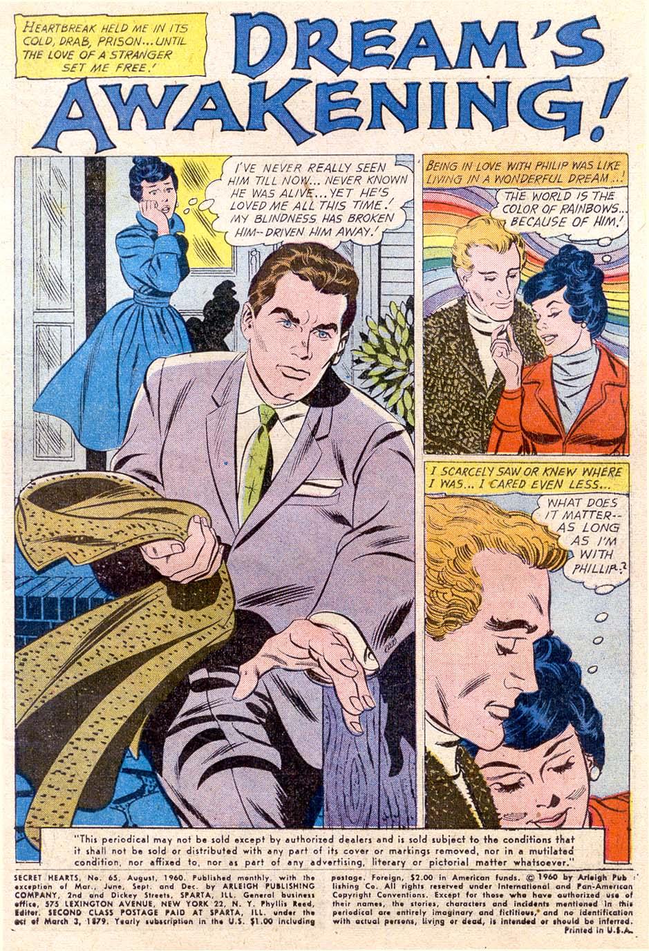 Read online Secret Hearts comic -  Issue #65 - 3