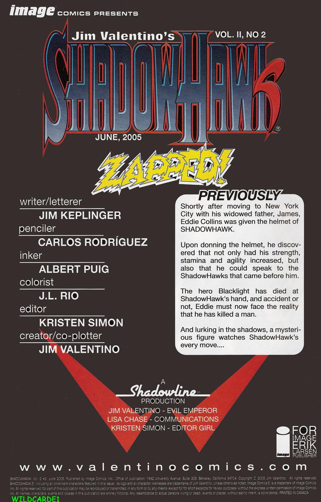 Read online ShadowHawk (2005) comic -  Issue #2 - 2
