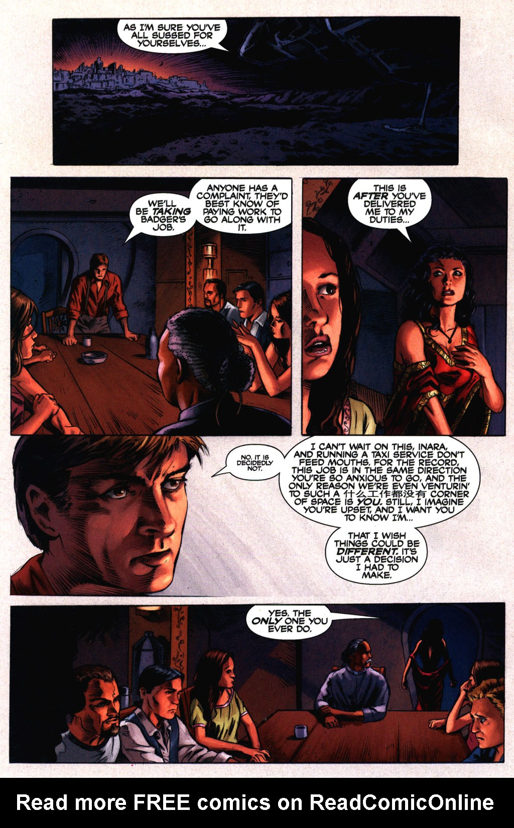 Read online Serenity comic -  Issue #2 - 19