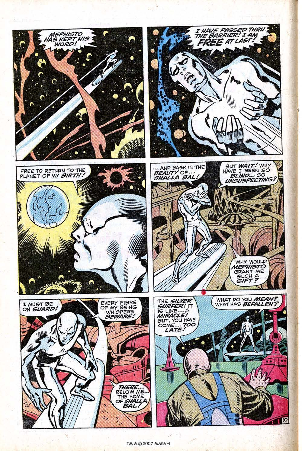 Read online Silver Surfer (1968) comic -  Issue #16 - 16