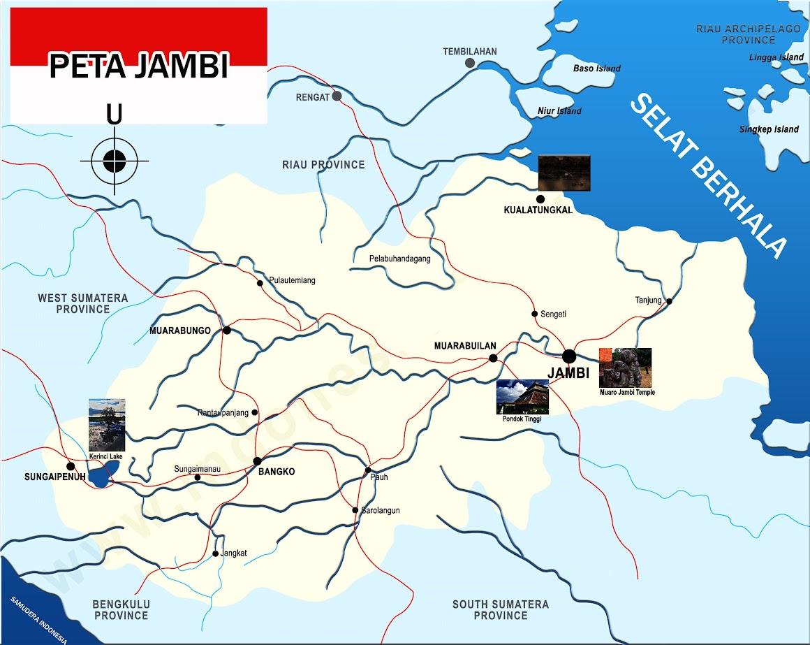Gambar Peta Jambi lengkap