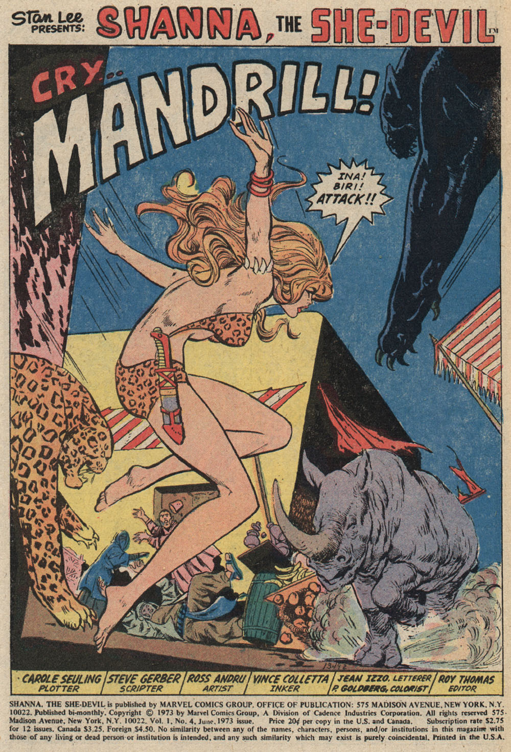 Read online Shanna, the She-Devil (1972) comic -  Issue #4 - 2