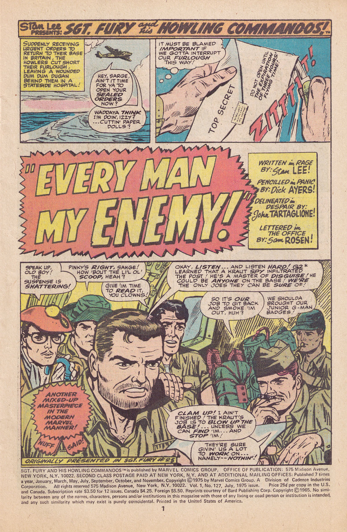Read online Sgt. Fury comic -  Issue #127 - 3