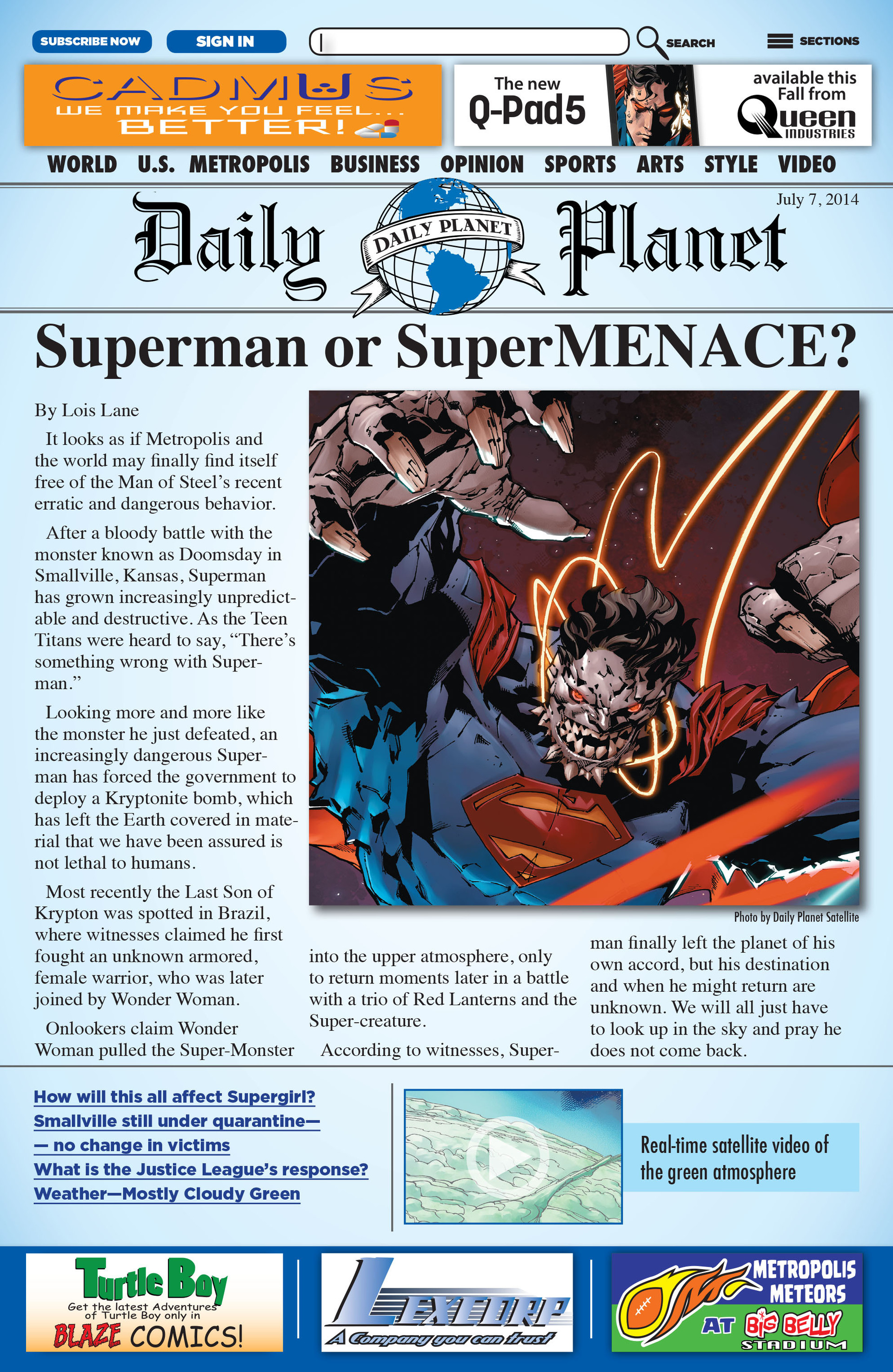 Read online Action Comics (2011) comic -  Issue #33 - 2