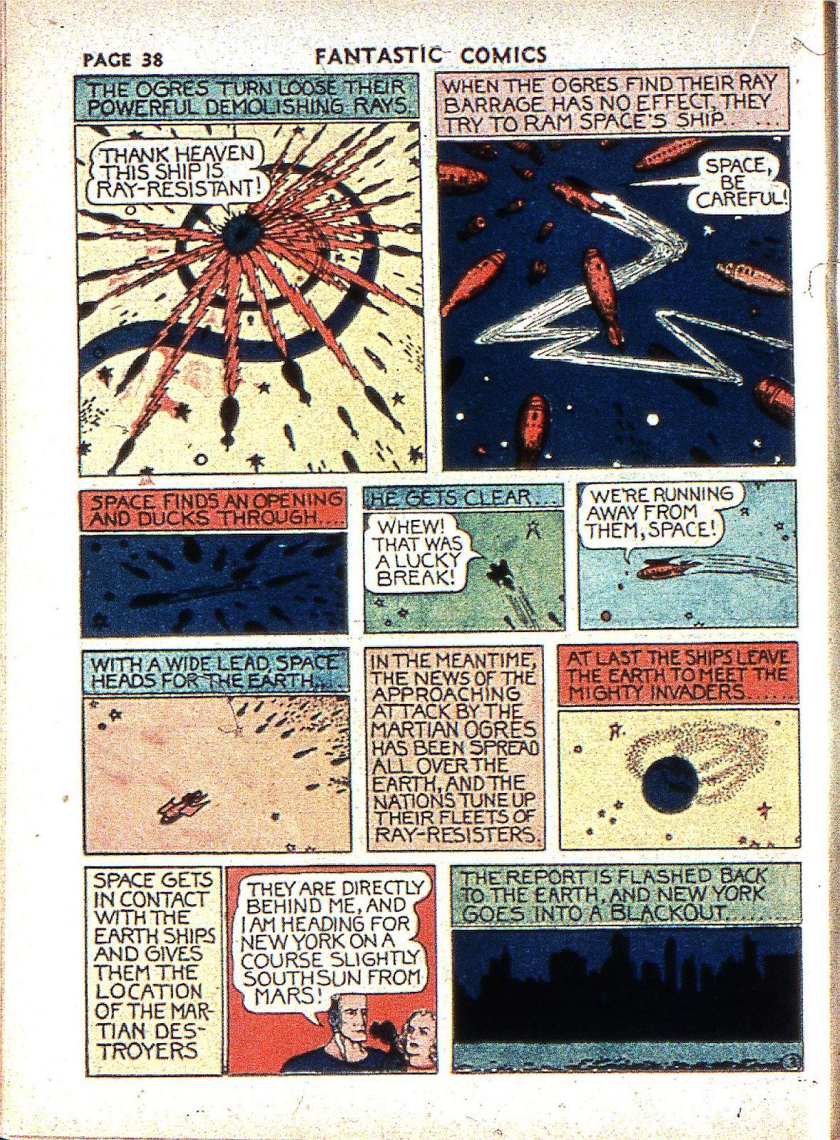 Read online Fantastic Comics comic -  Issue #2 - 39