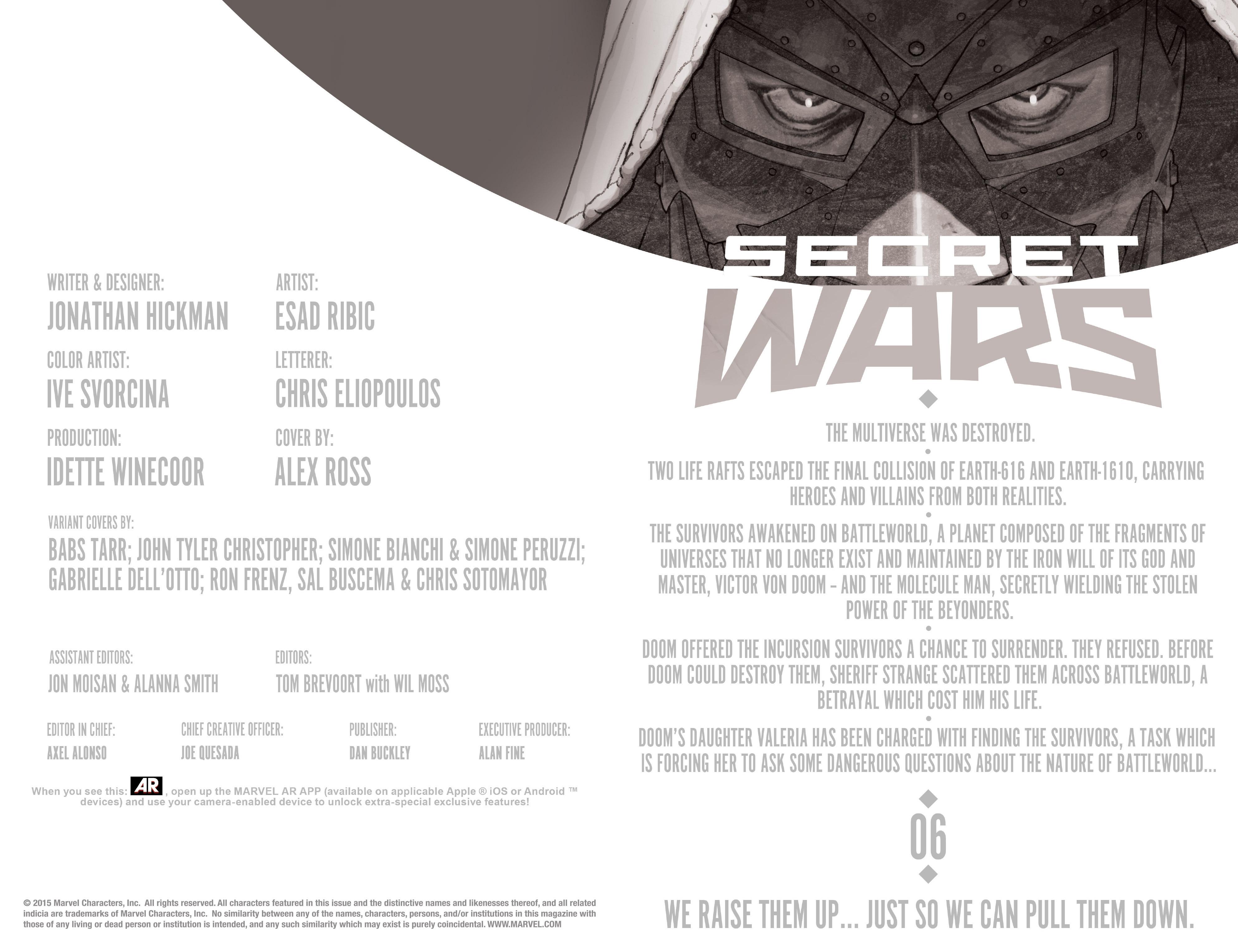 Read online Secret Wars comic -  Issue #6 - 6