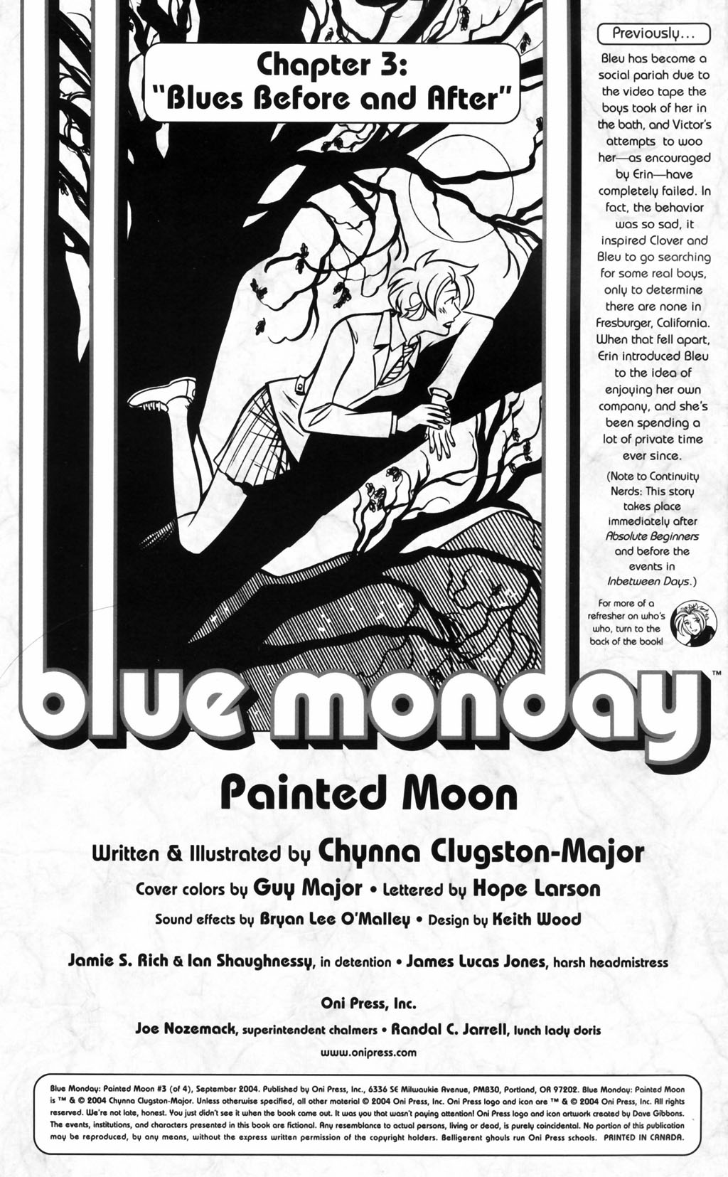 Read online Blue Monday: Painted Moon comic -  Issue #3 - 2