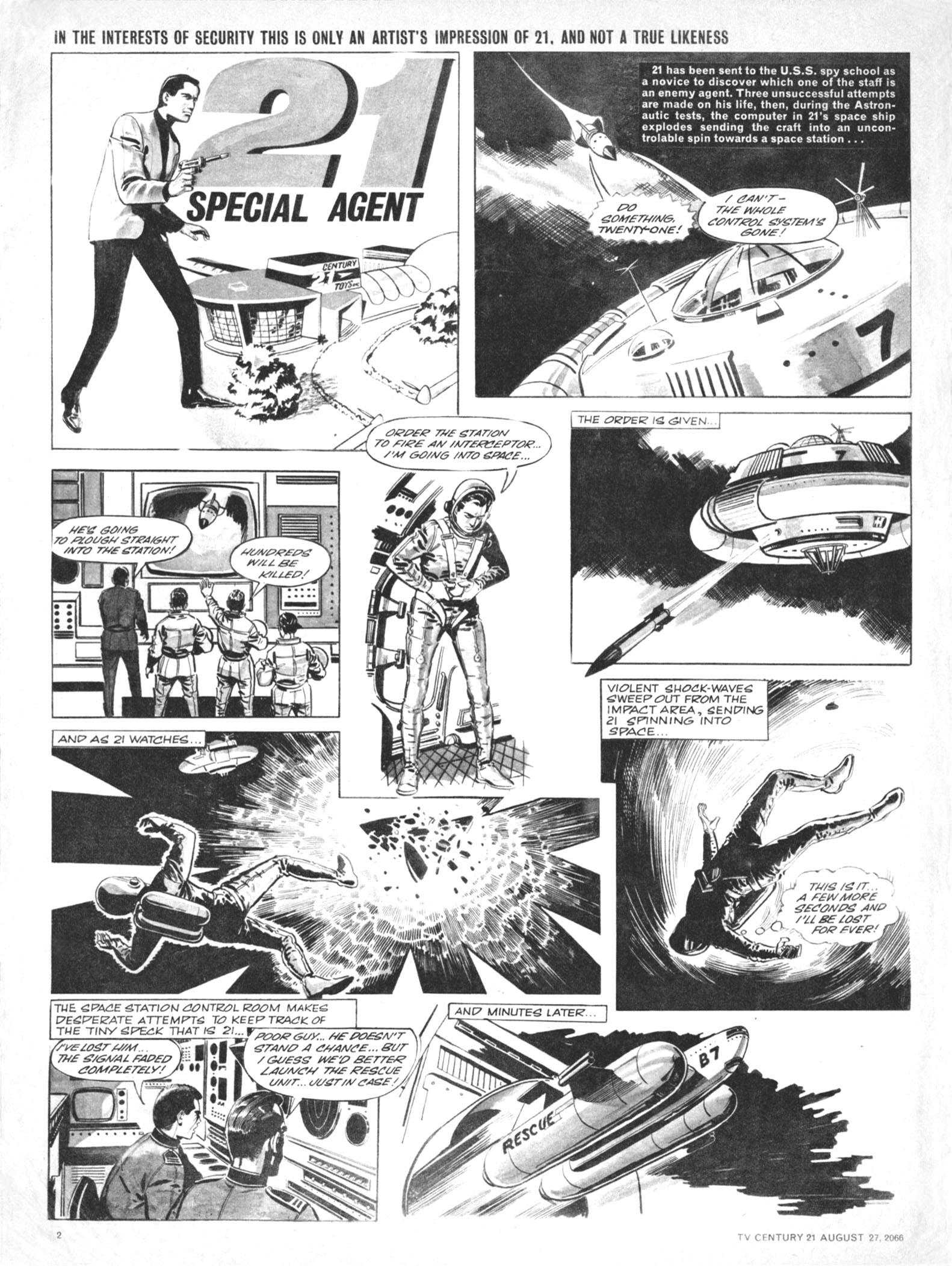 Read online TV Century 21 (TV 21) comic -  Issue #84 - 2