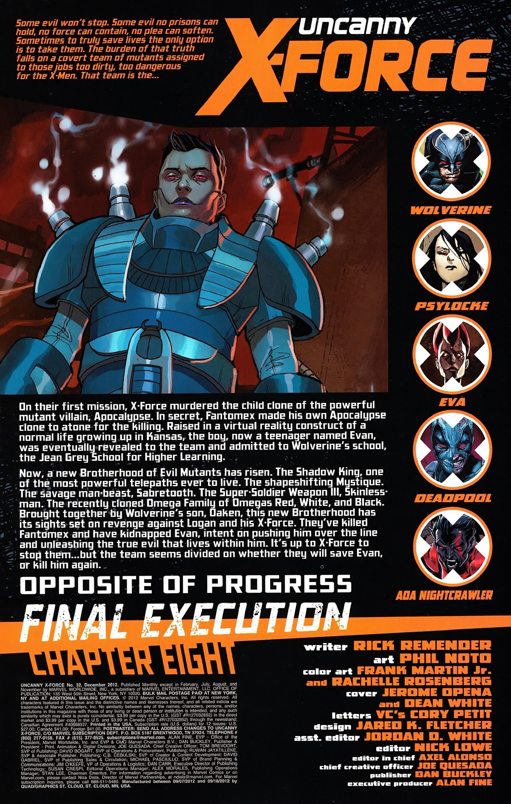 Uncanny X-Force (2010) #32 #34 - English 3