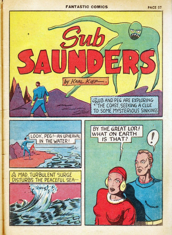 Read online Fantastic Comics comic -  Issue #7 - 59