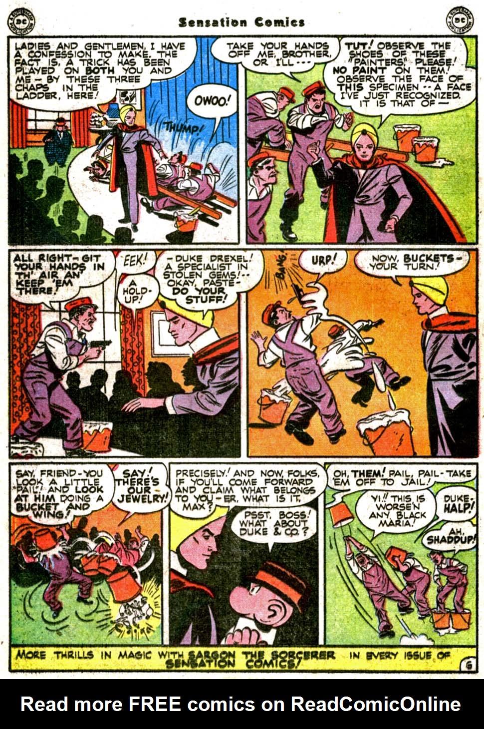 Read online Sensation (Mystery) Comics comic -  Issue #64 - 34