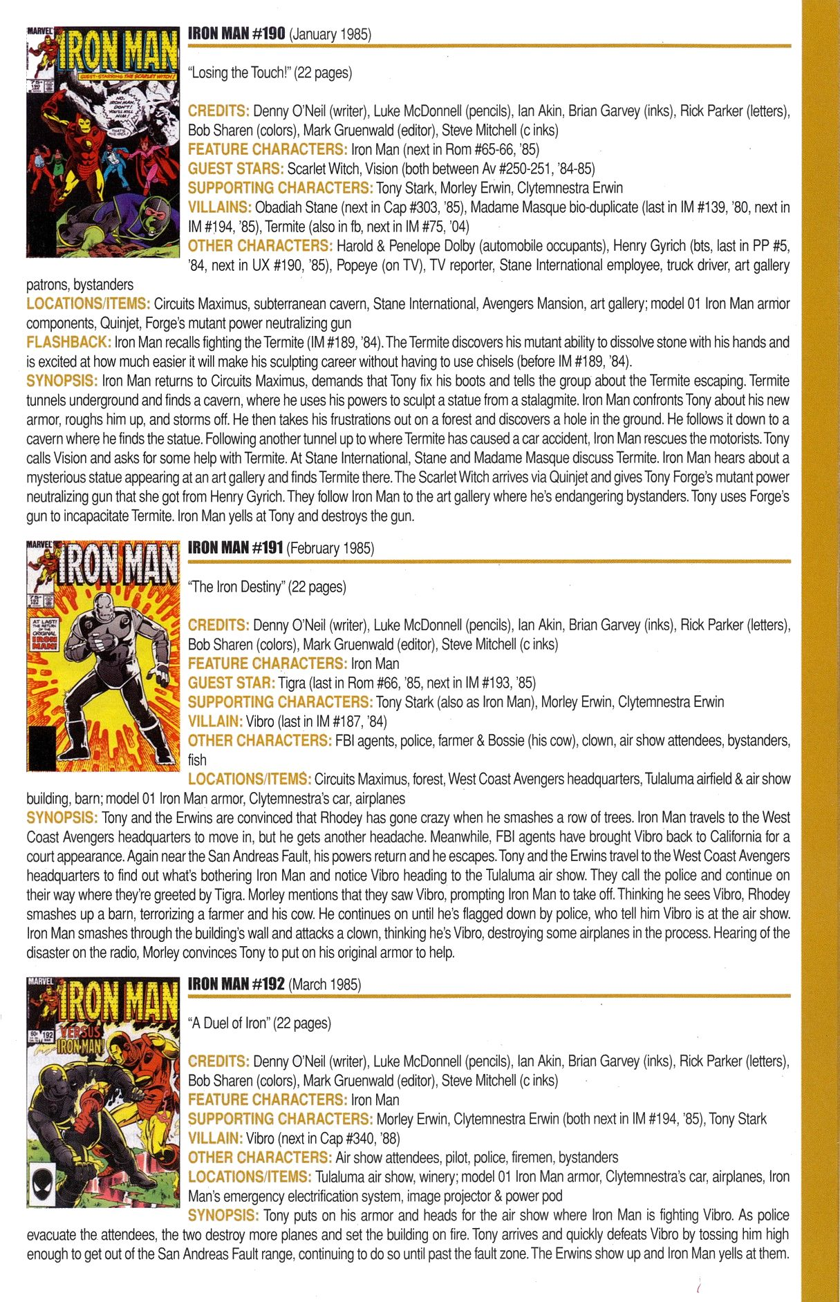 Read online Official Index to the Marvel Universe comic -  Issue #6 - 33