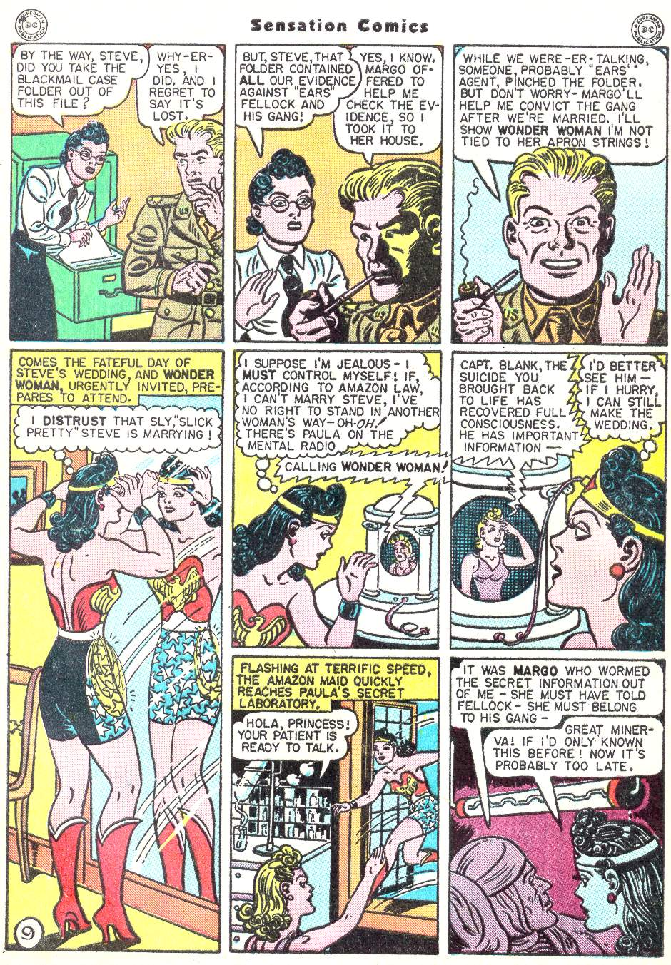 Read online Sensation (Mystery) Comics comic -  Issue #50 - 11