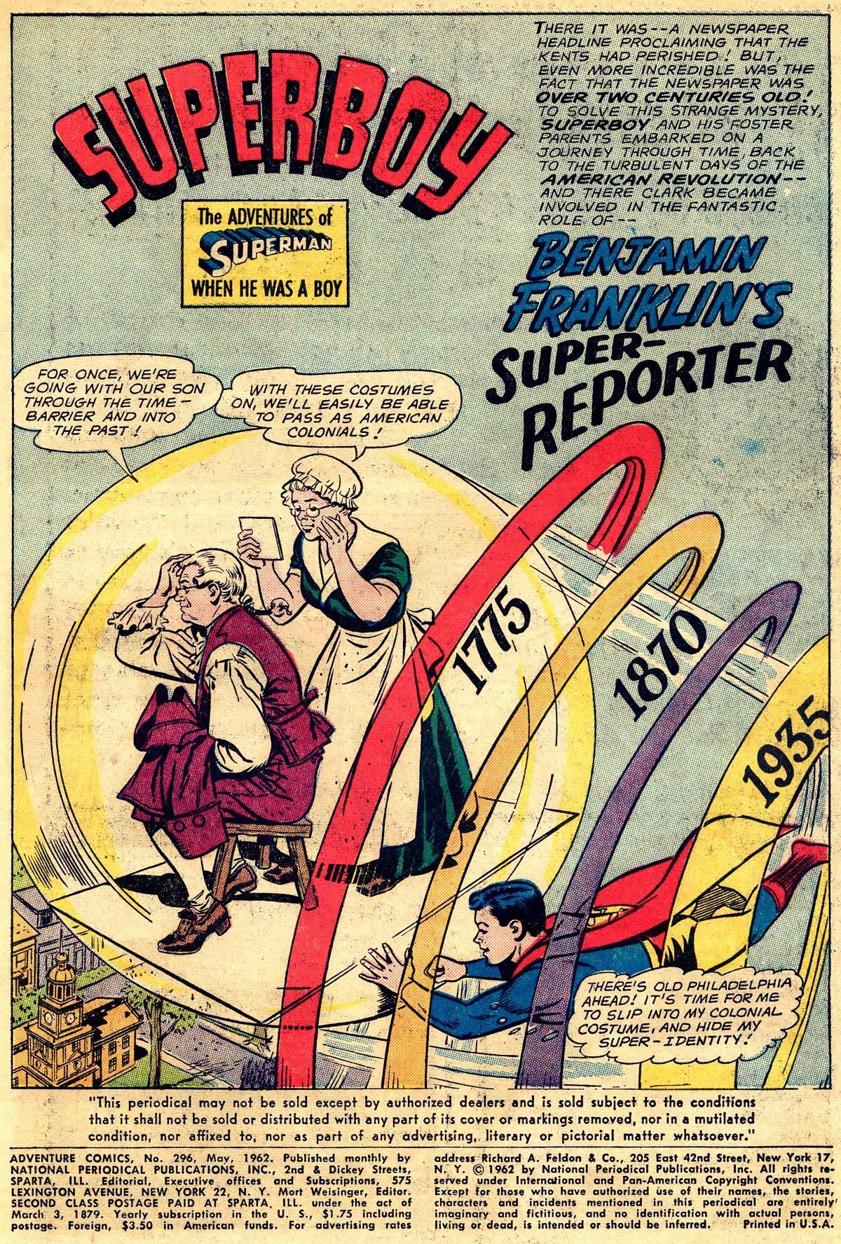 Read online Adventure Comics (1938) comic -  Issue #296 - 3