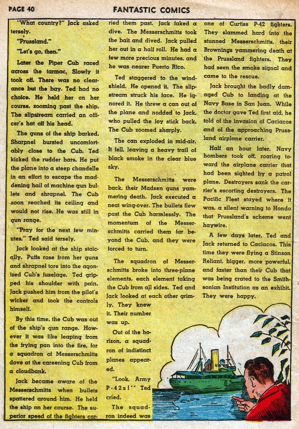 Read online Fantastic Comics comic -  Issue #18 - 42