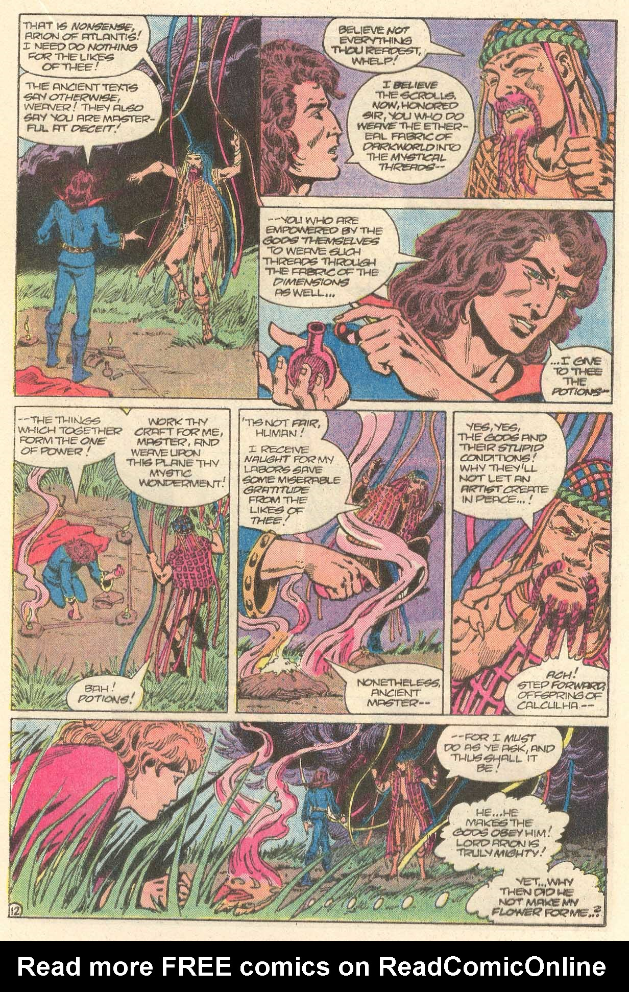 Read online Arion, Lord of Atlantis comic -  Issue #28 - 13