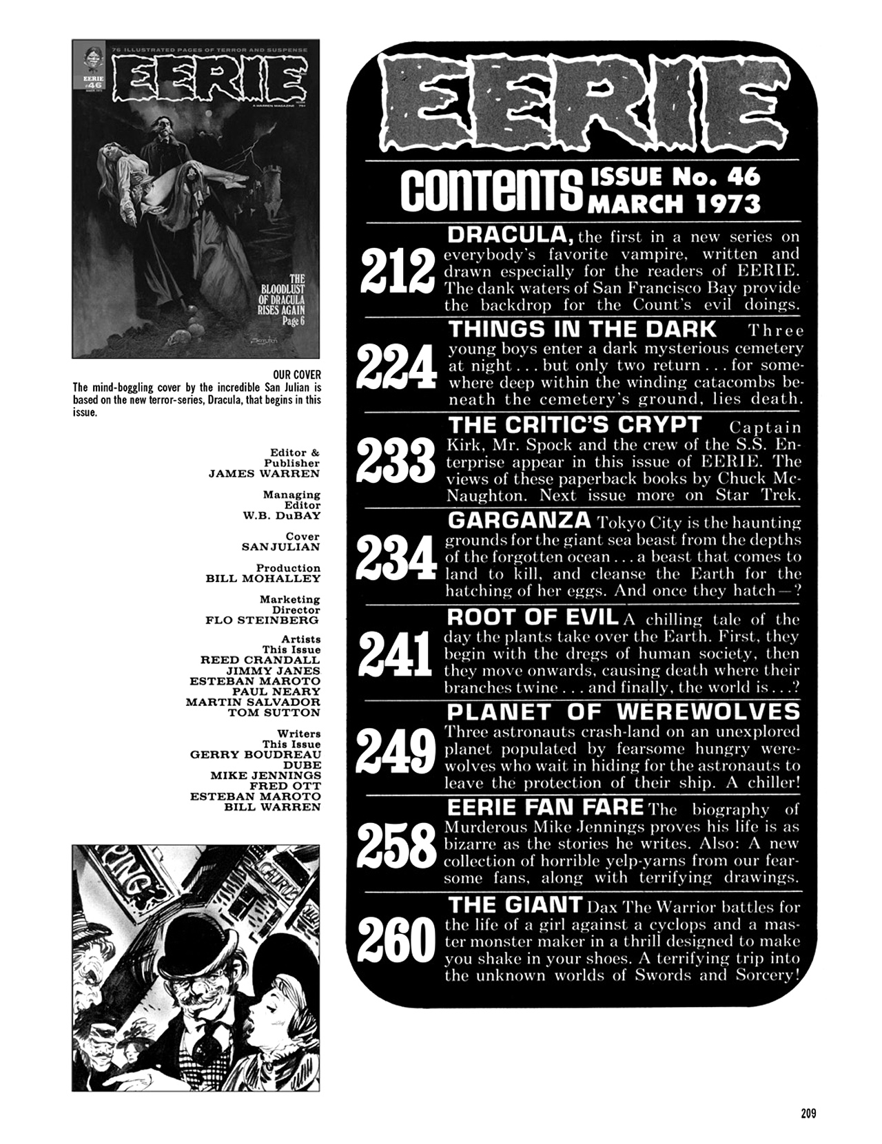 Read online Eerie Archives comic -  Issue # TPB 9 - 210