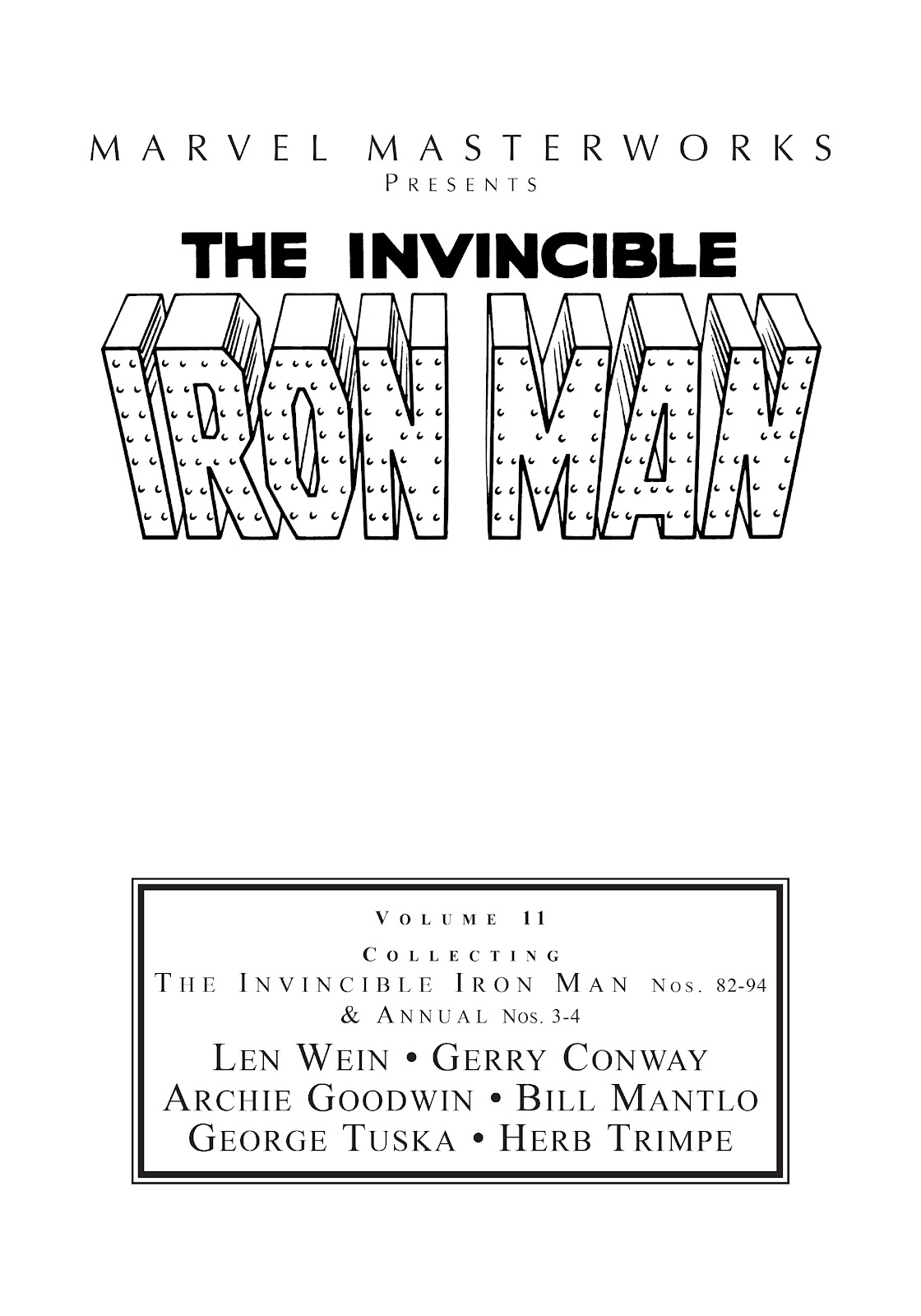 Read online Marvel Masterworks: The Invincible Iron Man comic -  Issue # TPB 11 (Part 1) - 2